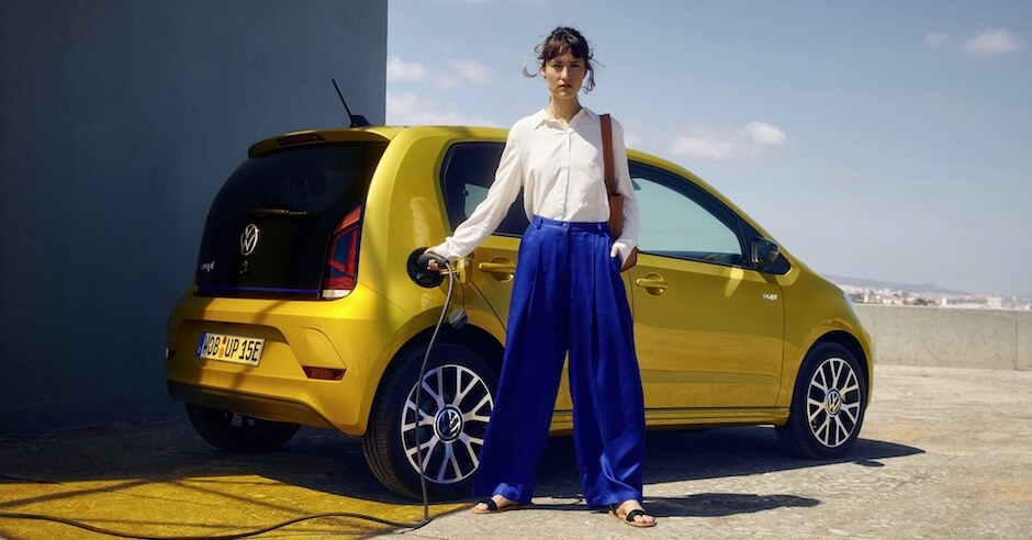 elektrische VW Up opladen