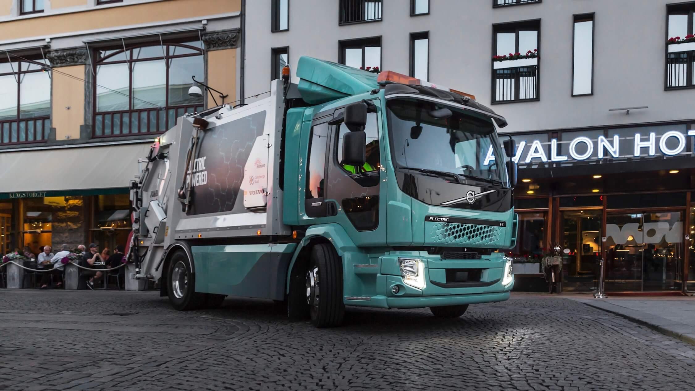 elektrische Volvo afval vrachtwagen