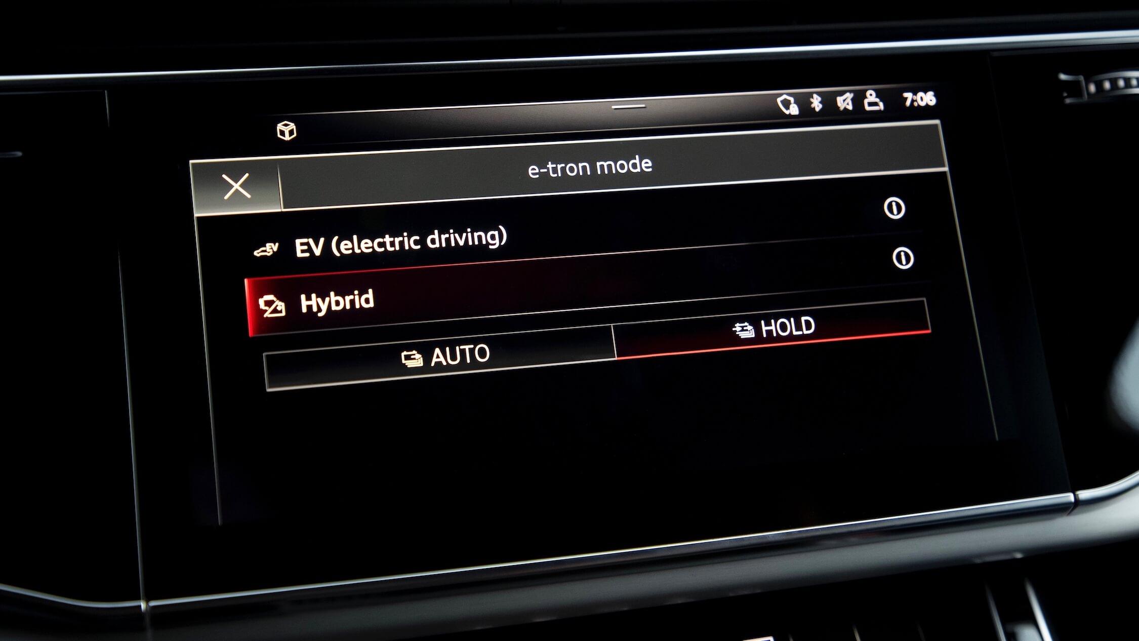 Audi Q7 hybride infotainment scherm