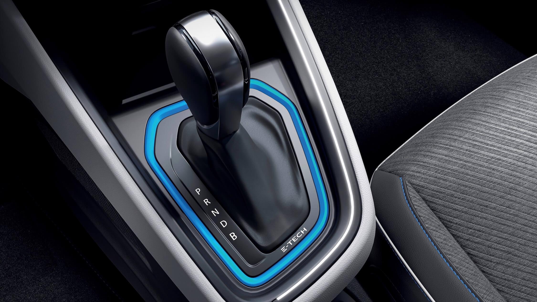 Hybride Renault Clio E-Tech versnellingspook
