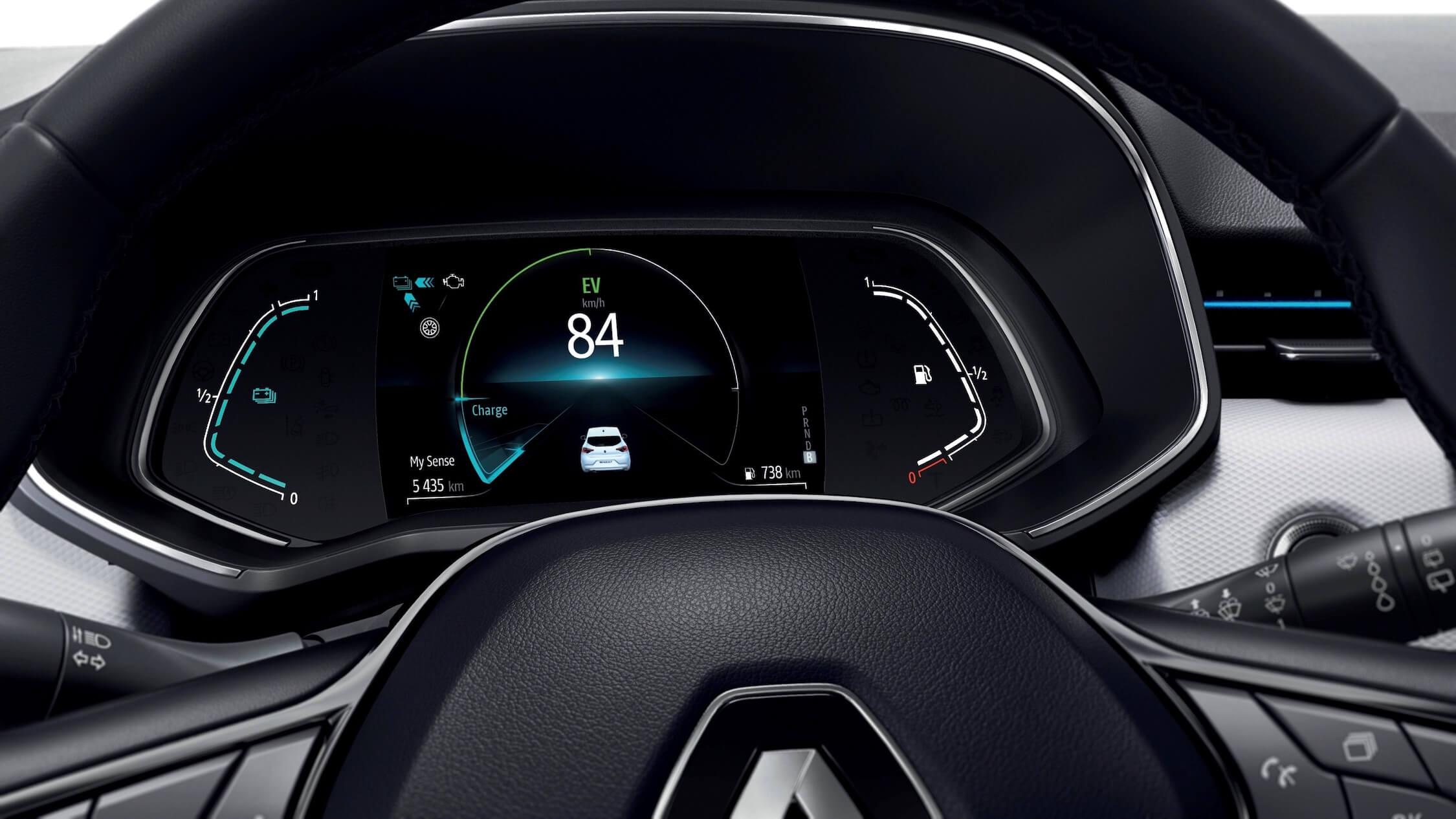 Hybride Renault Clio digitaal scherm