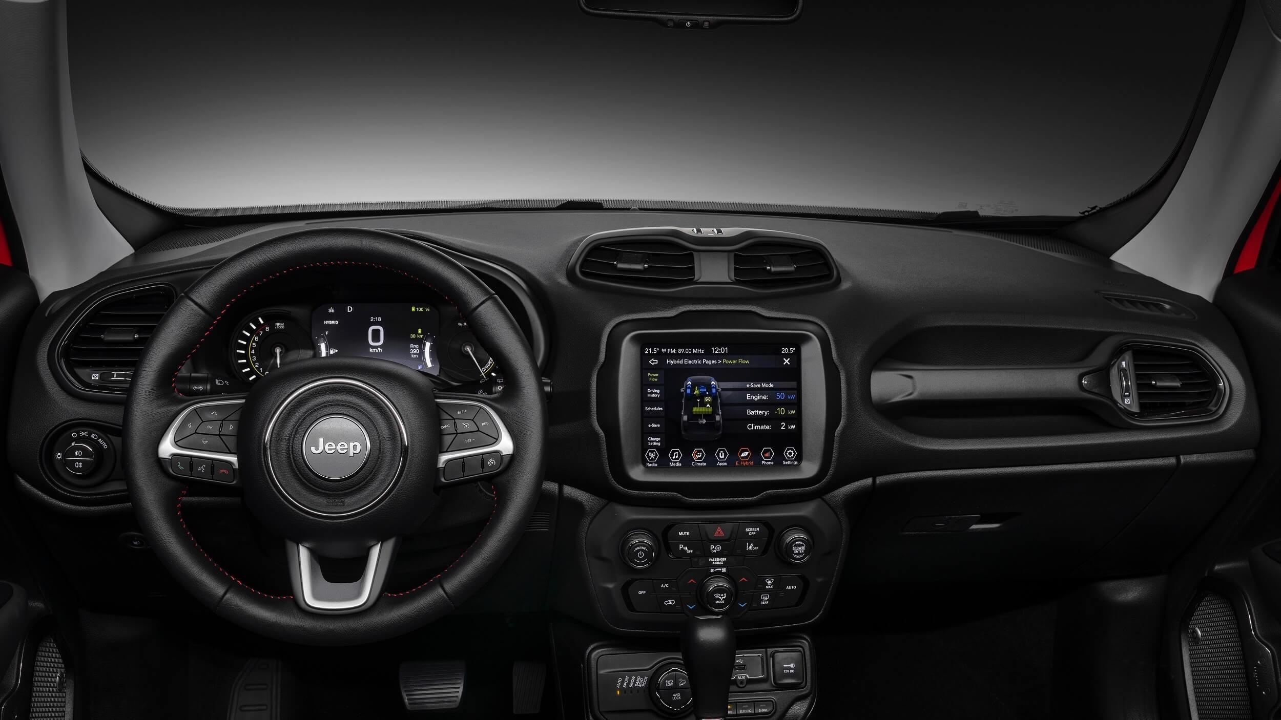 Jeep Renegade dashboard en stuur