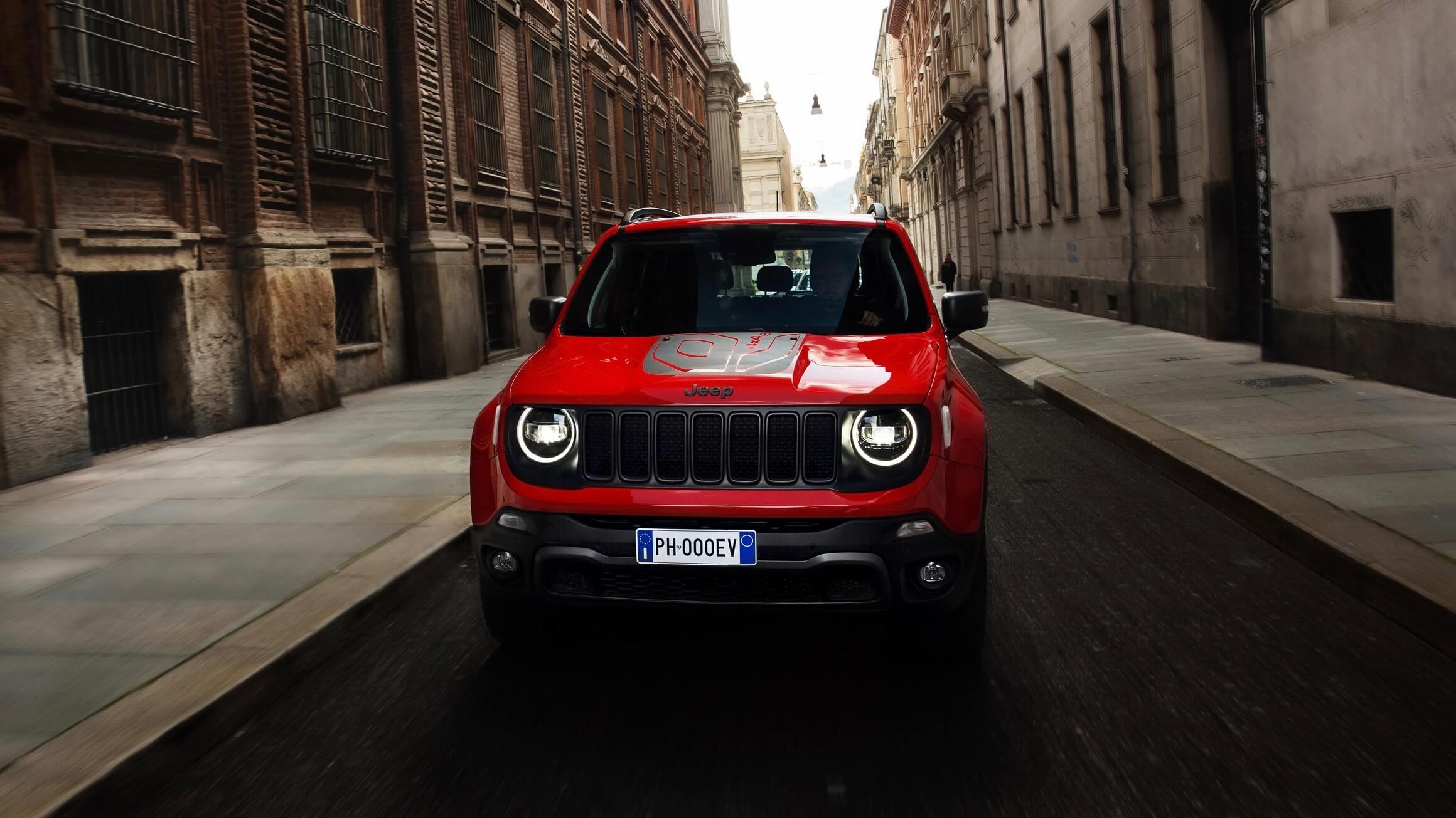 Jeep Renegade rood