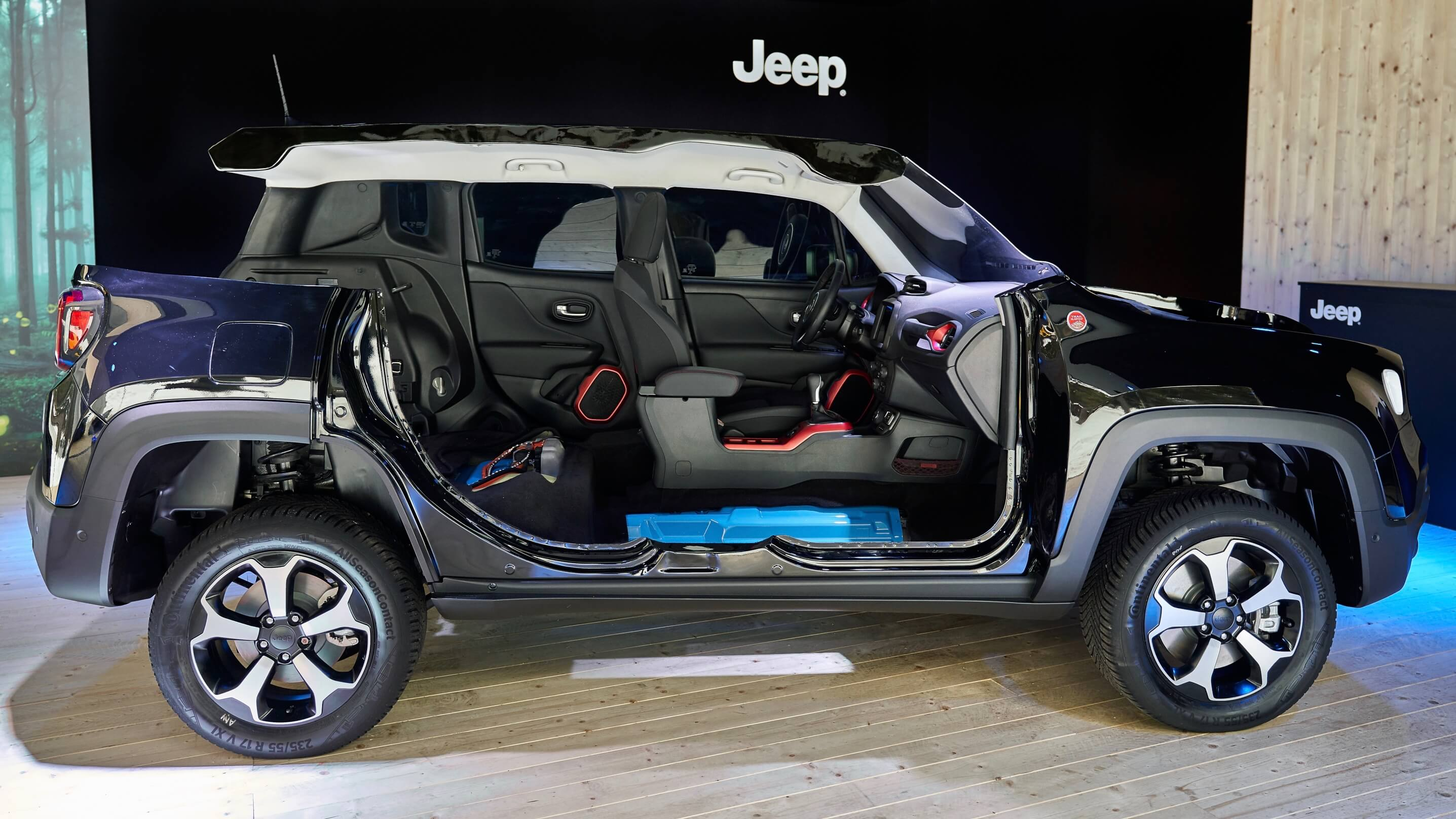 Plug in hybride Jeep Renegade batterij