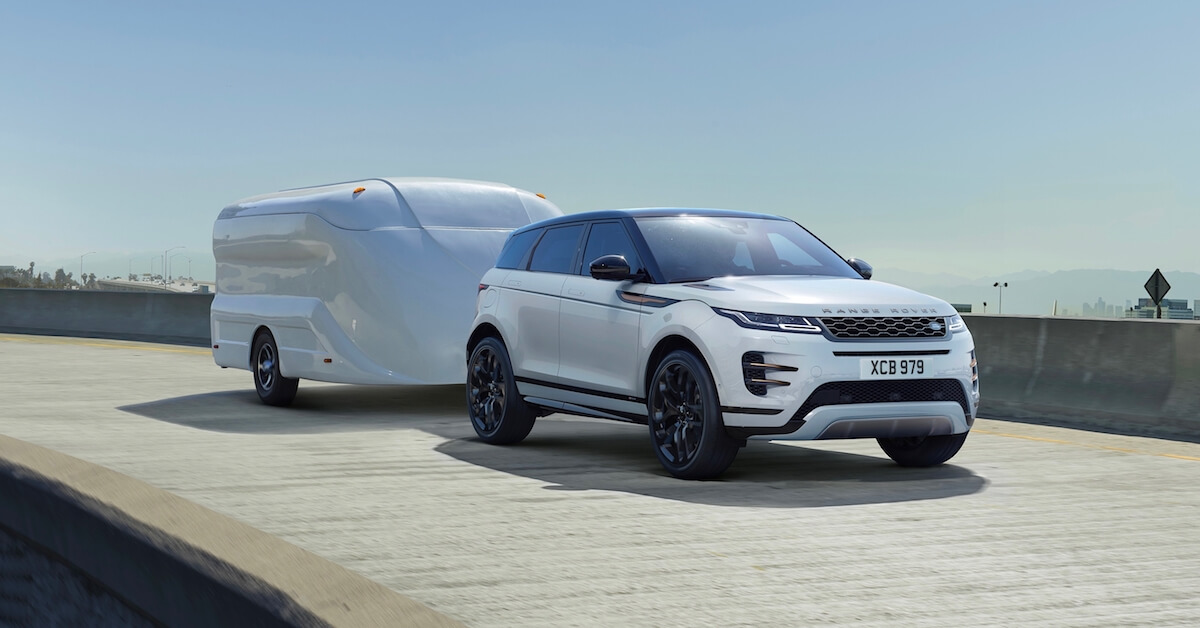 Range Rover Evoque caravan