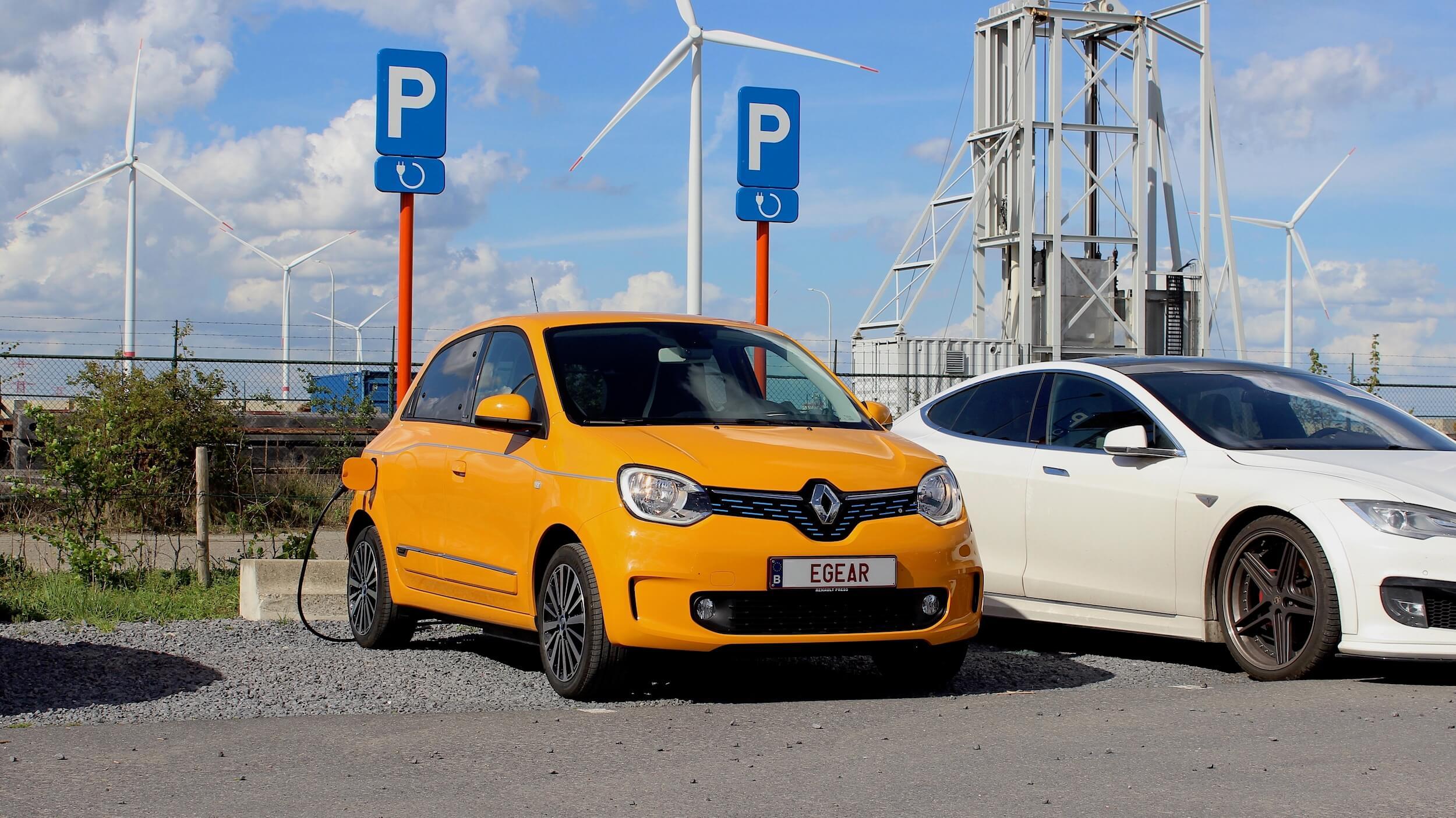 Renault Twingo ZE geel