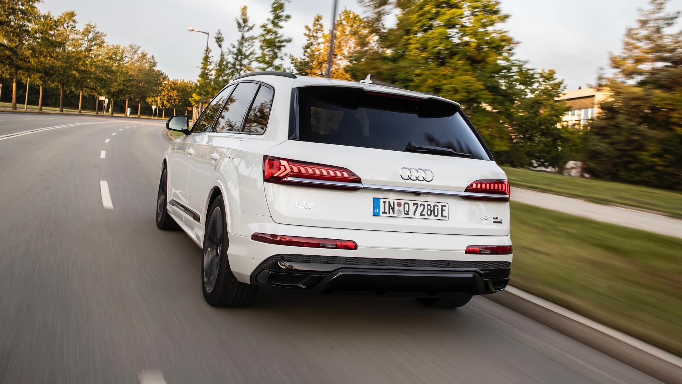 elektrische Audi Q7 TFSI-e achterkant
