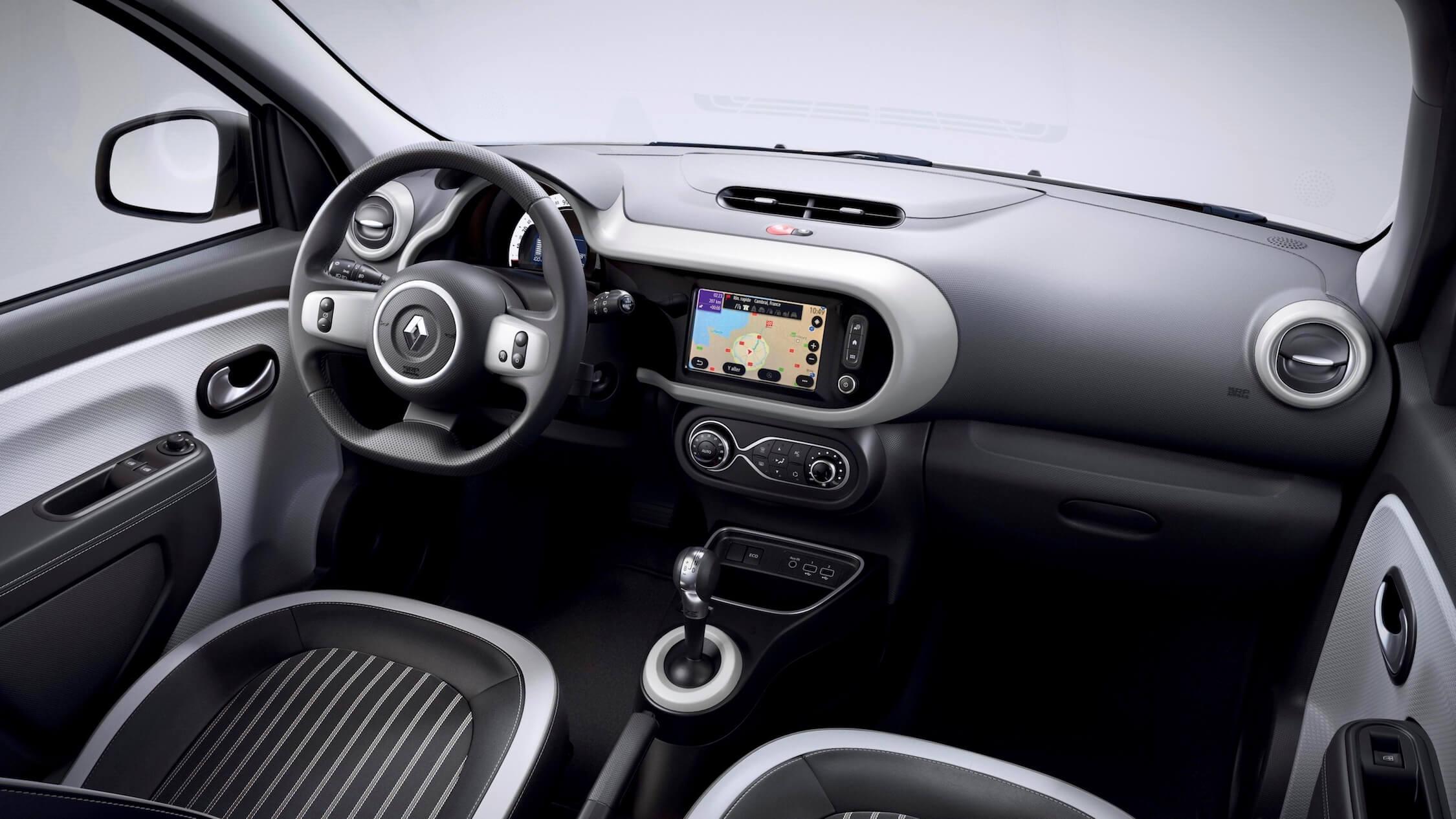 elektrische Renault Twingo ZE interieur grijs