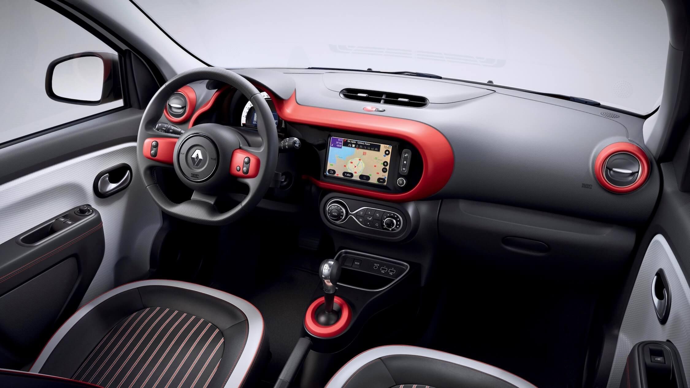 elektrische Renault Twingo ZE interieur rood