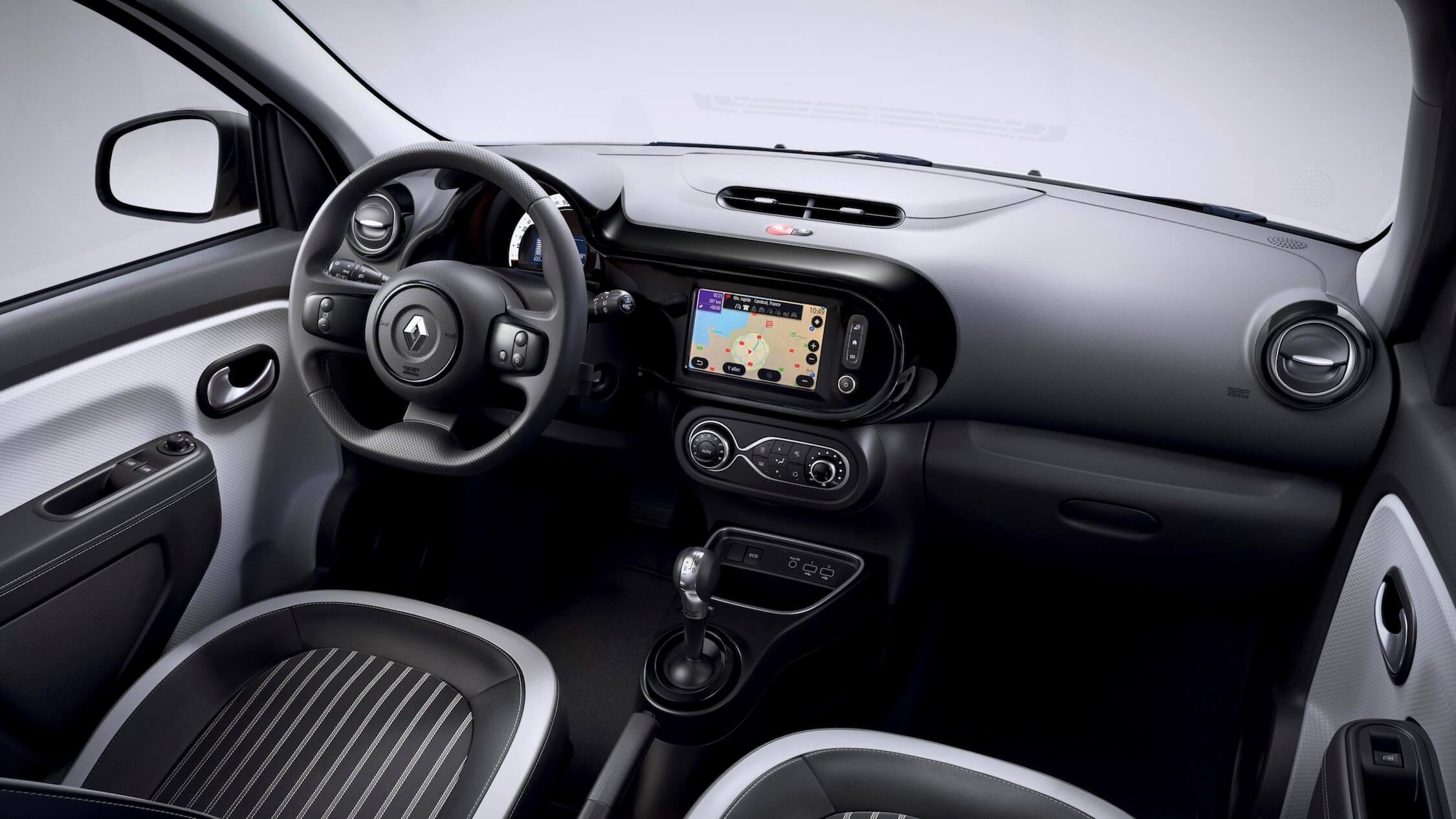 elektrische Renault Twingo ZE interieur zwart