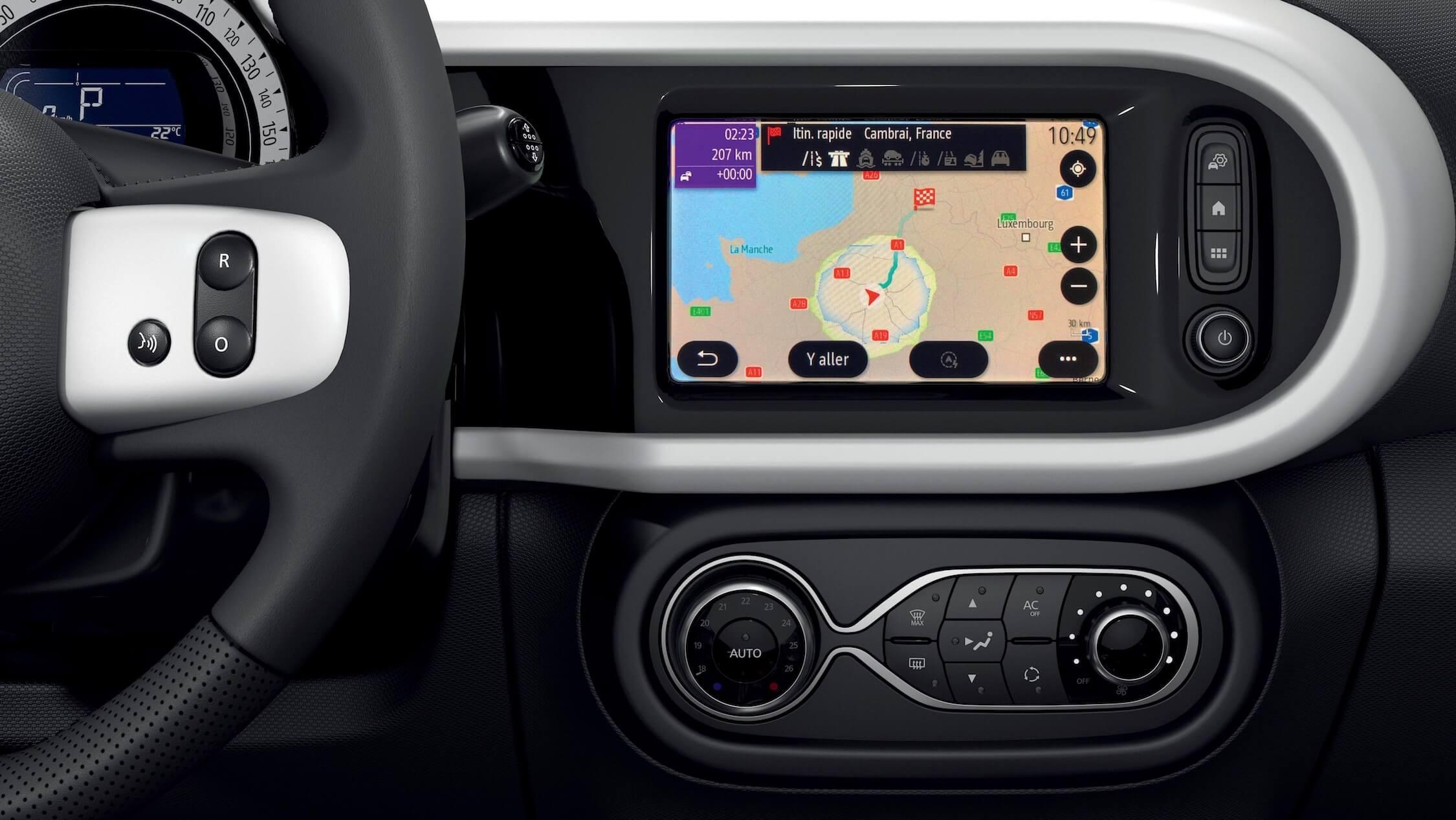 elektrische Renault Twingo ZE navigatiescherm
