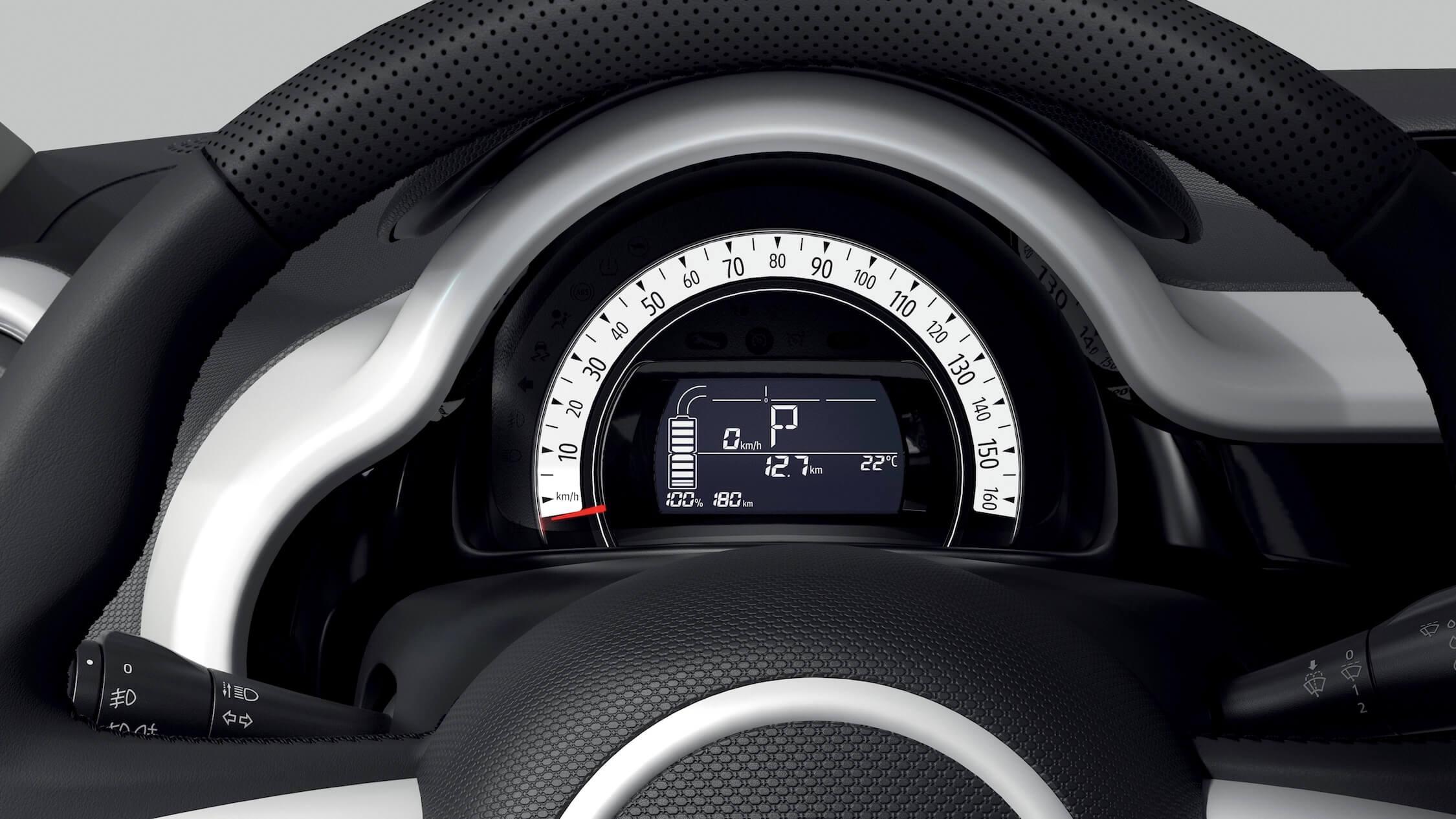 elektrische Renault Twingo ZE tellers