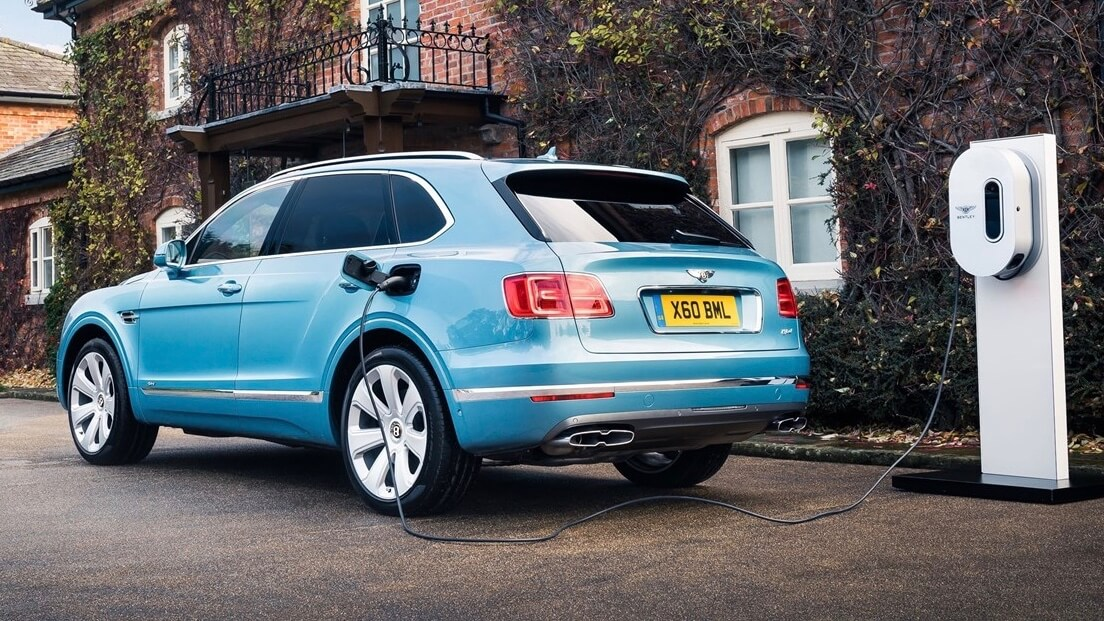 plug-in hybride Bentley Bentayga opladen