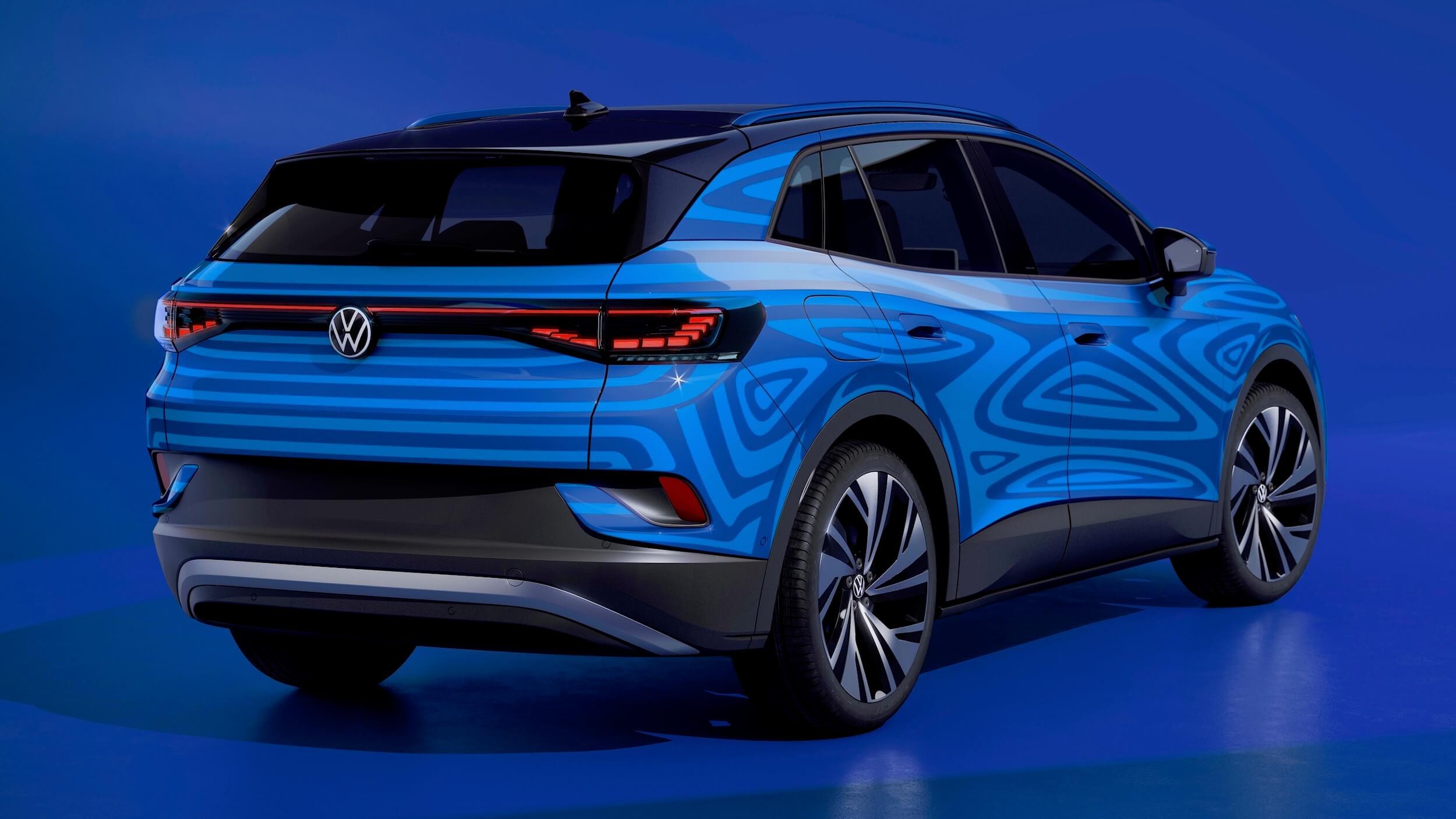 Volkswagen ID.4 achterkant bestickerd
