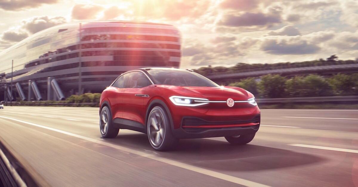 Volkswagen ID.4 electric SUV driving