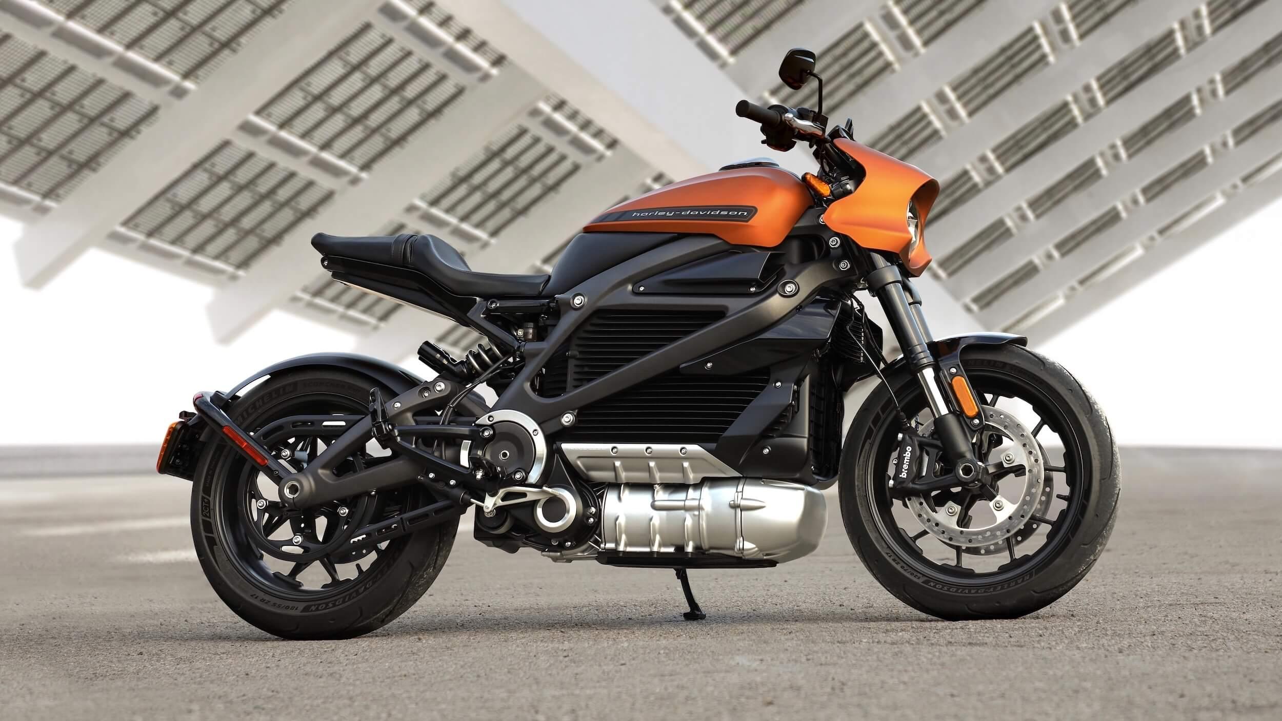 elektrische Harley Davidson 2020 oranje