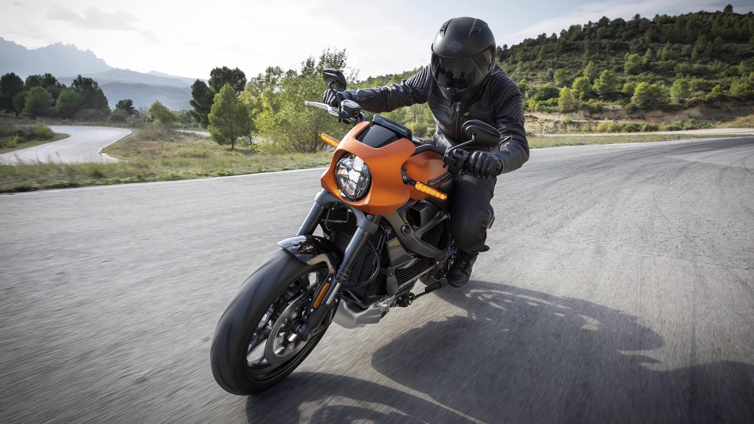 elektrische Harley Davidson Livewire wegligging