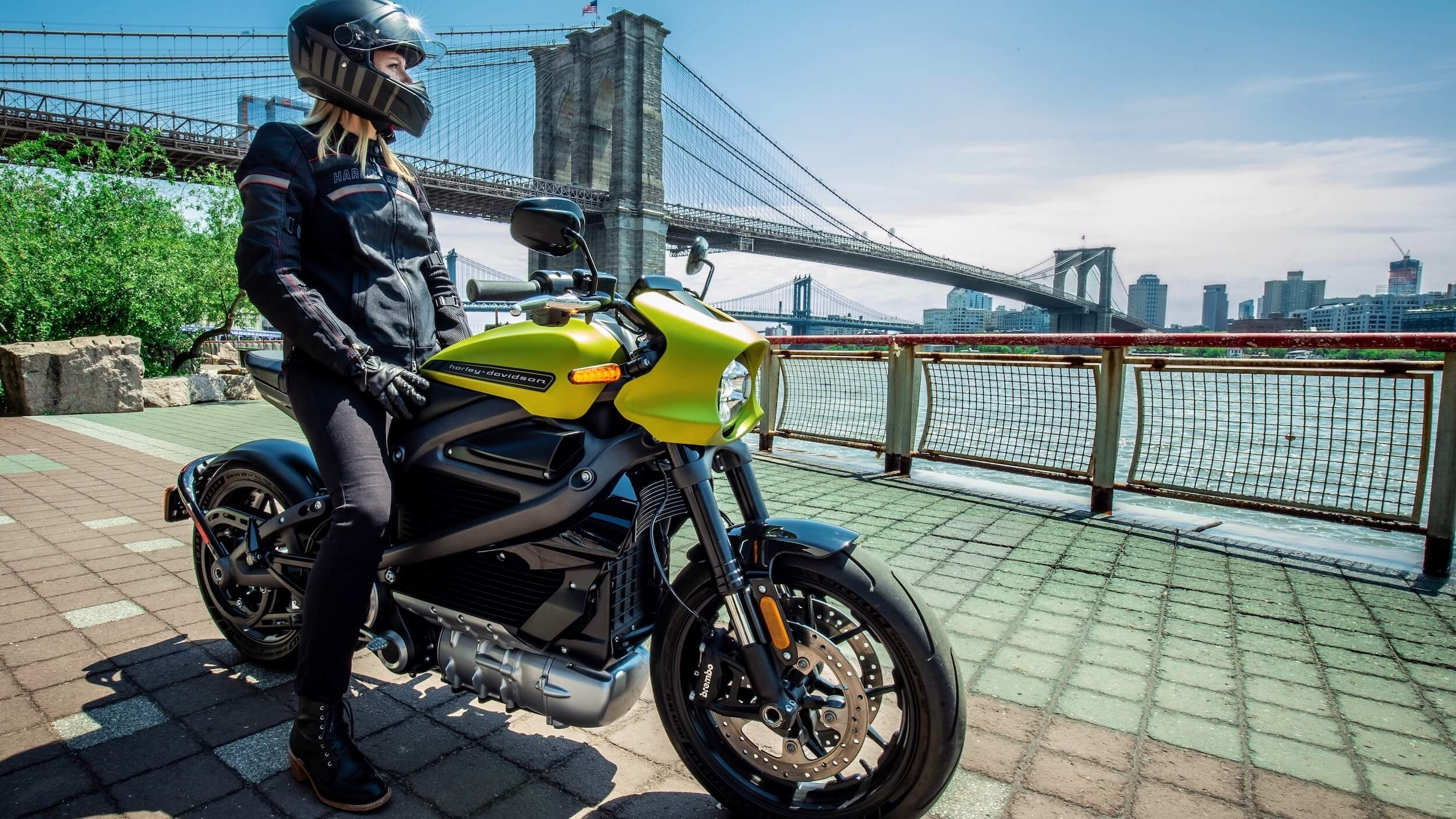 elektrische Harley Davidson geel