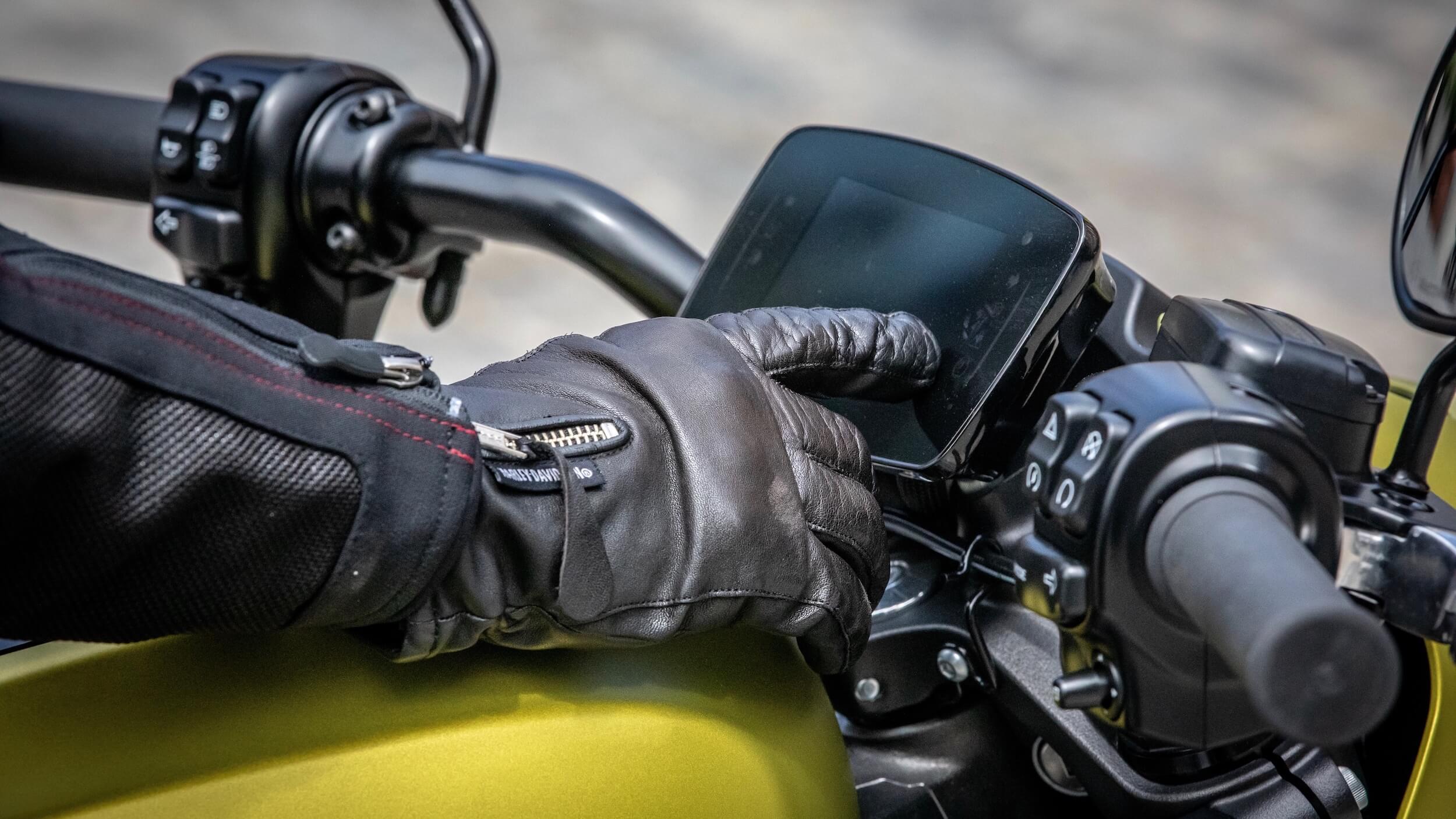 elektrische Harley Davidson scherm