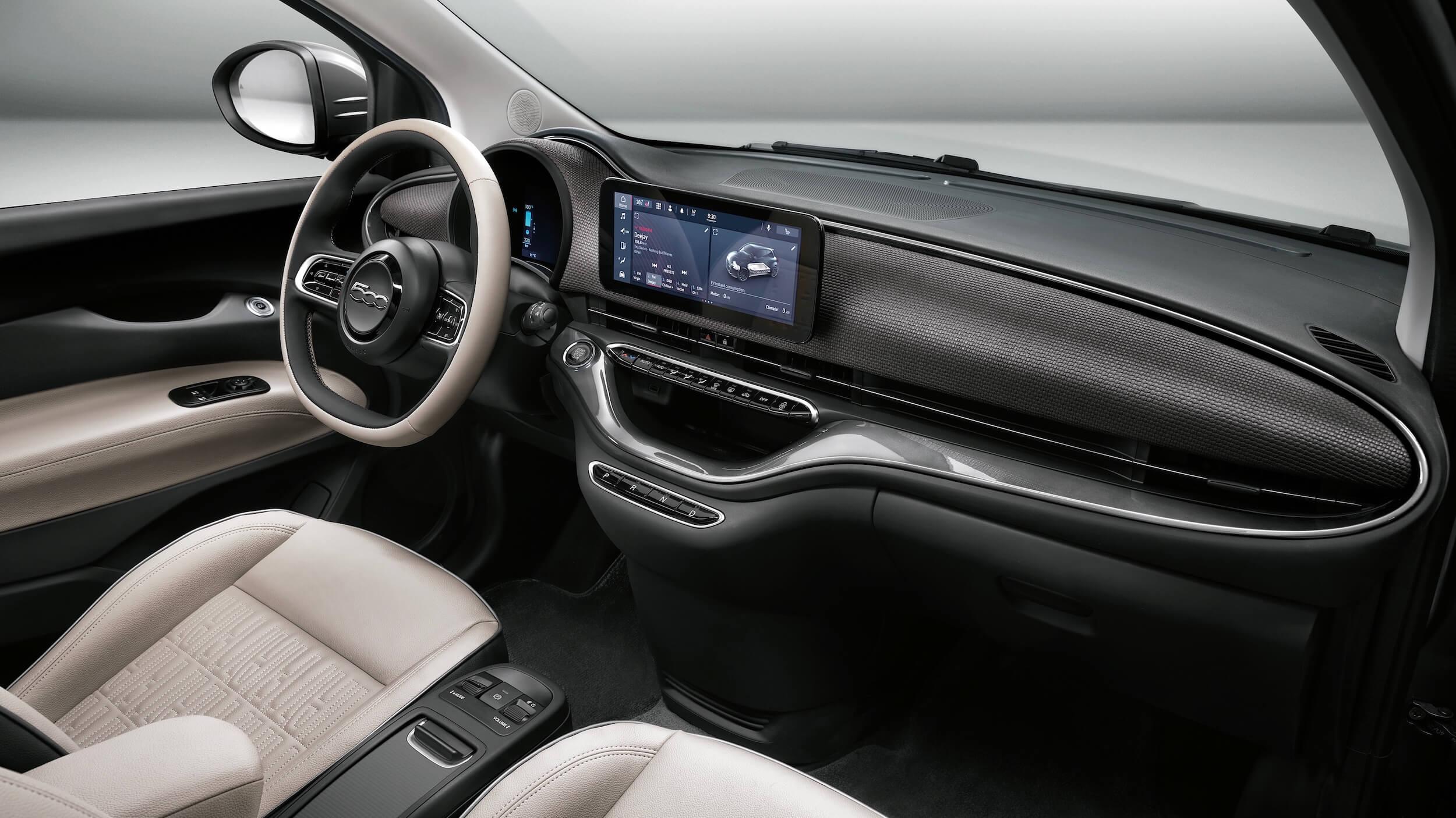 Fiat 500e dashboard 2021