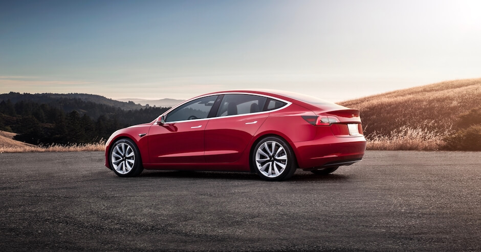 Tesla Model 3 multi coat rood