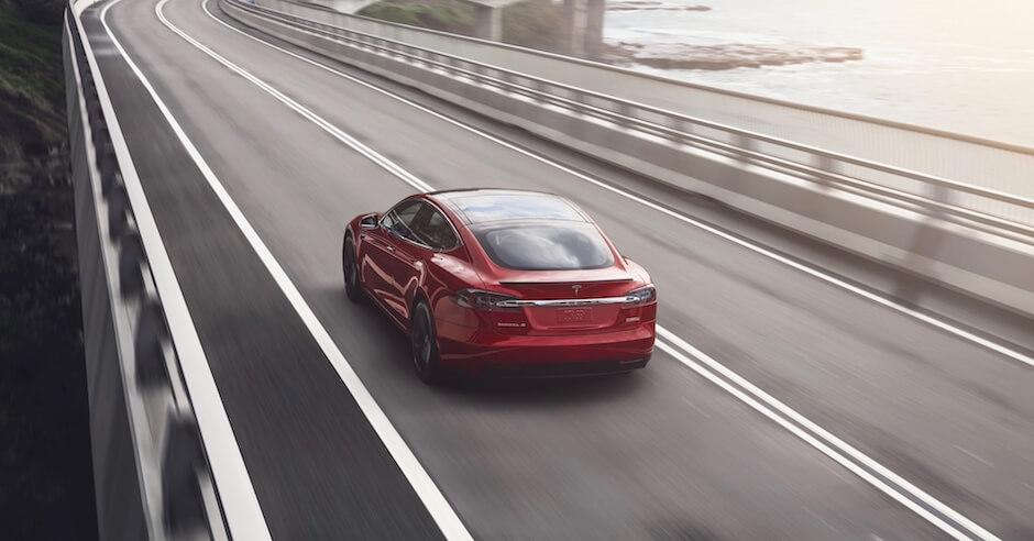 Tesla Model S achterkant