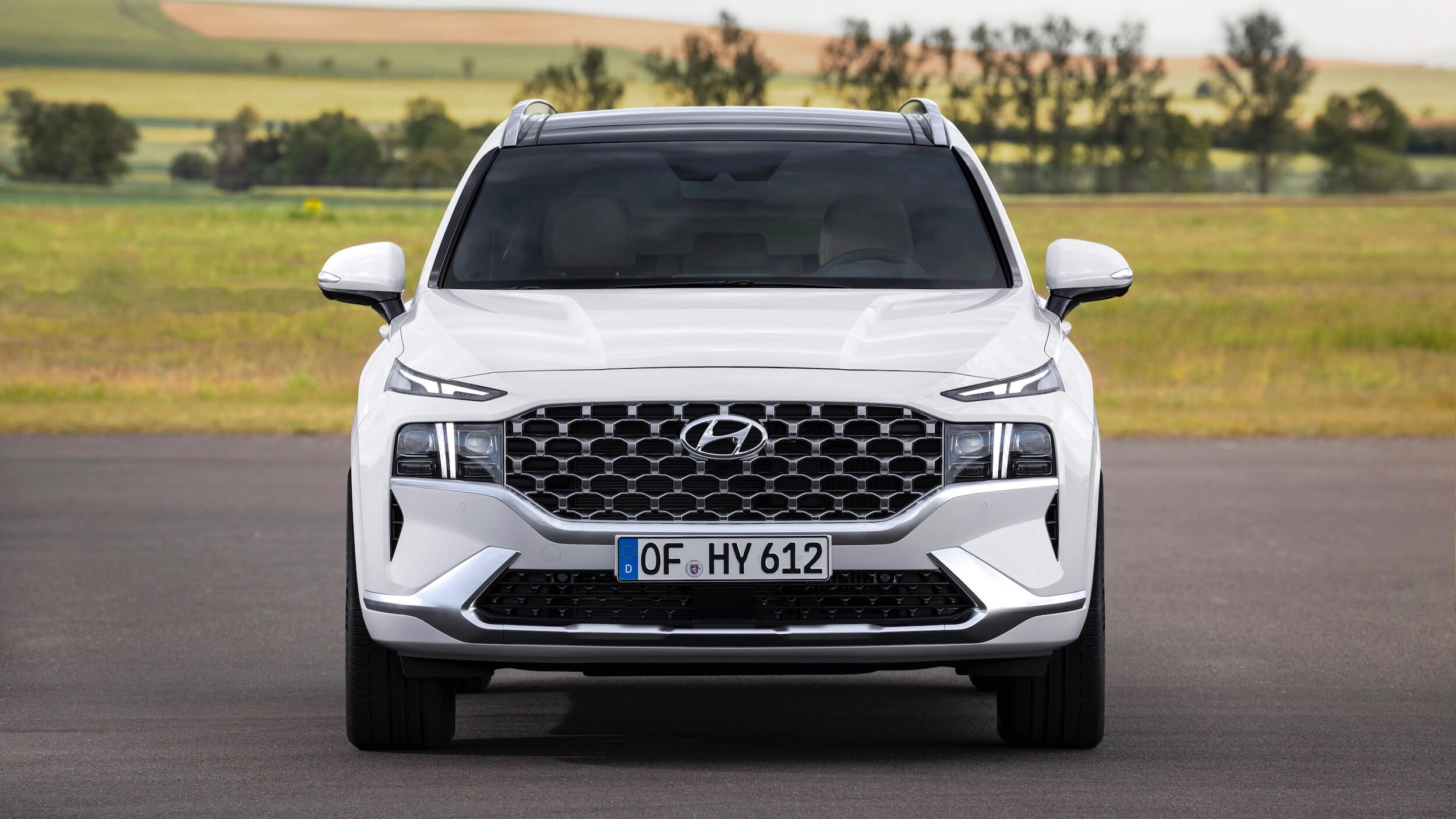 Hyundai Santa Fe hybrid voorkant