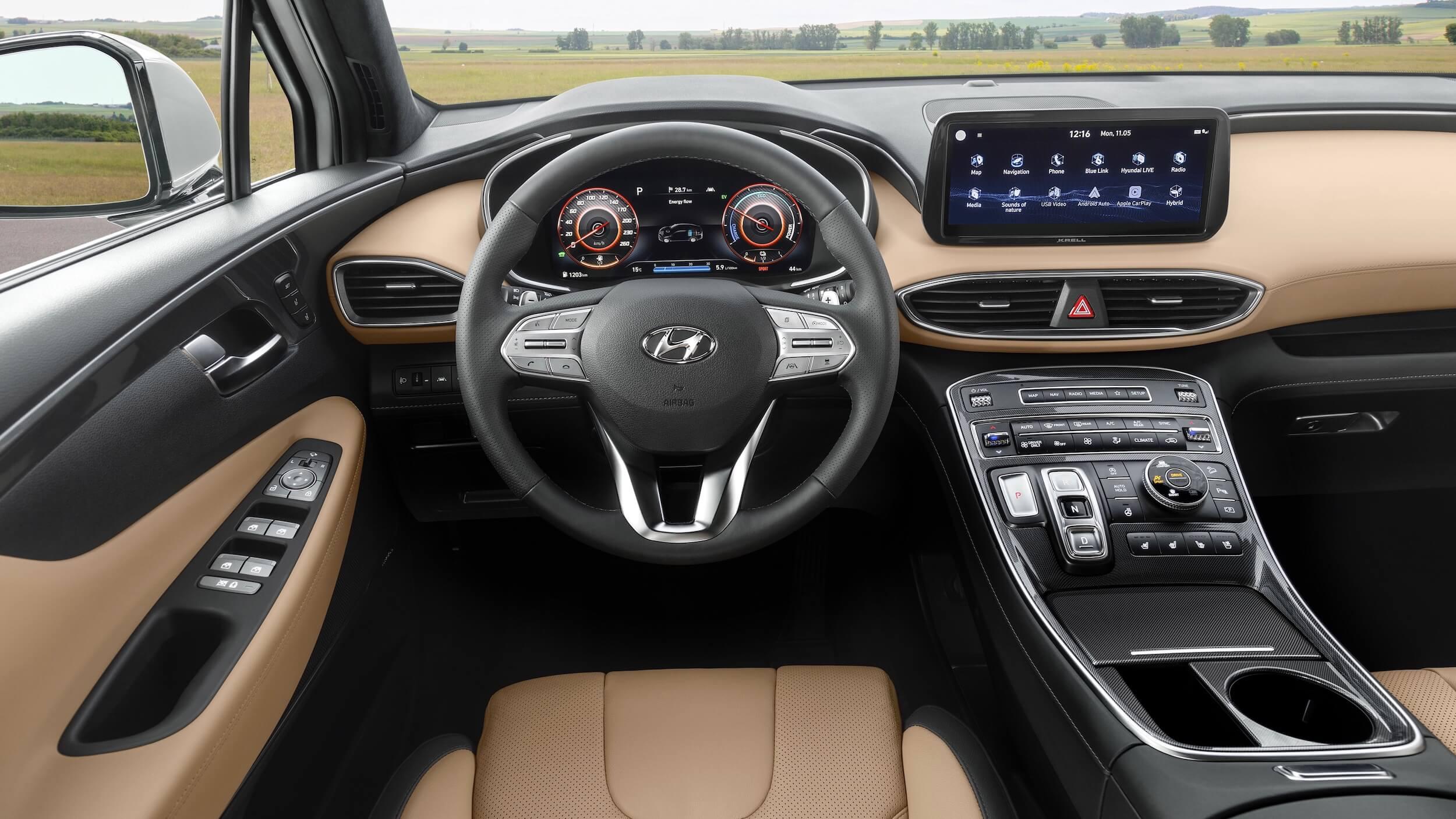 Hyundai Santa Fe hybride interieur