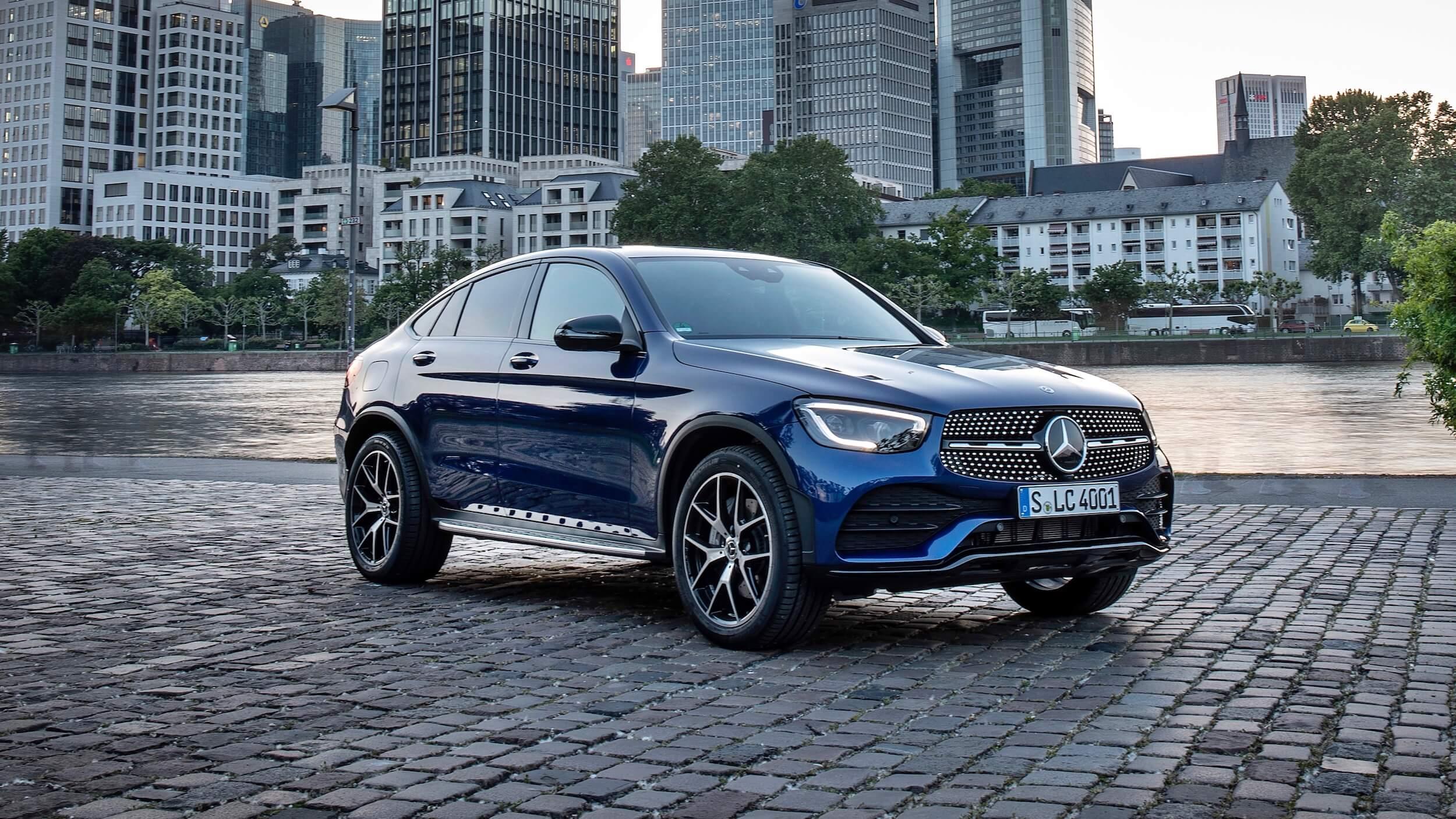 Mercedes GLC Coupé blauw