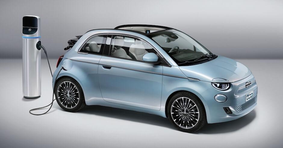 elektrische Fiat 500e opladen