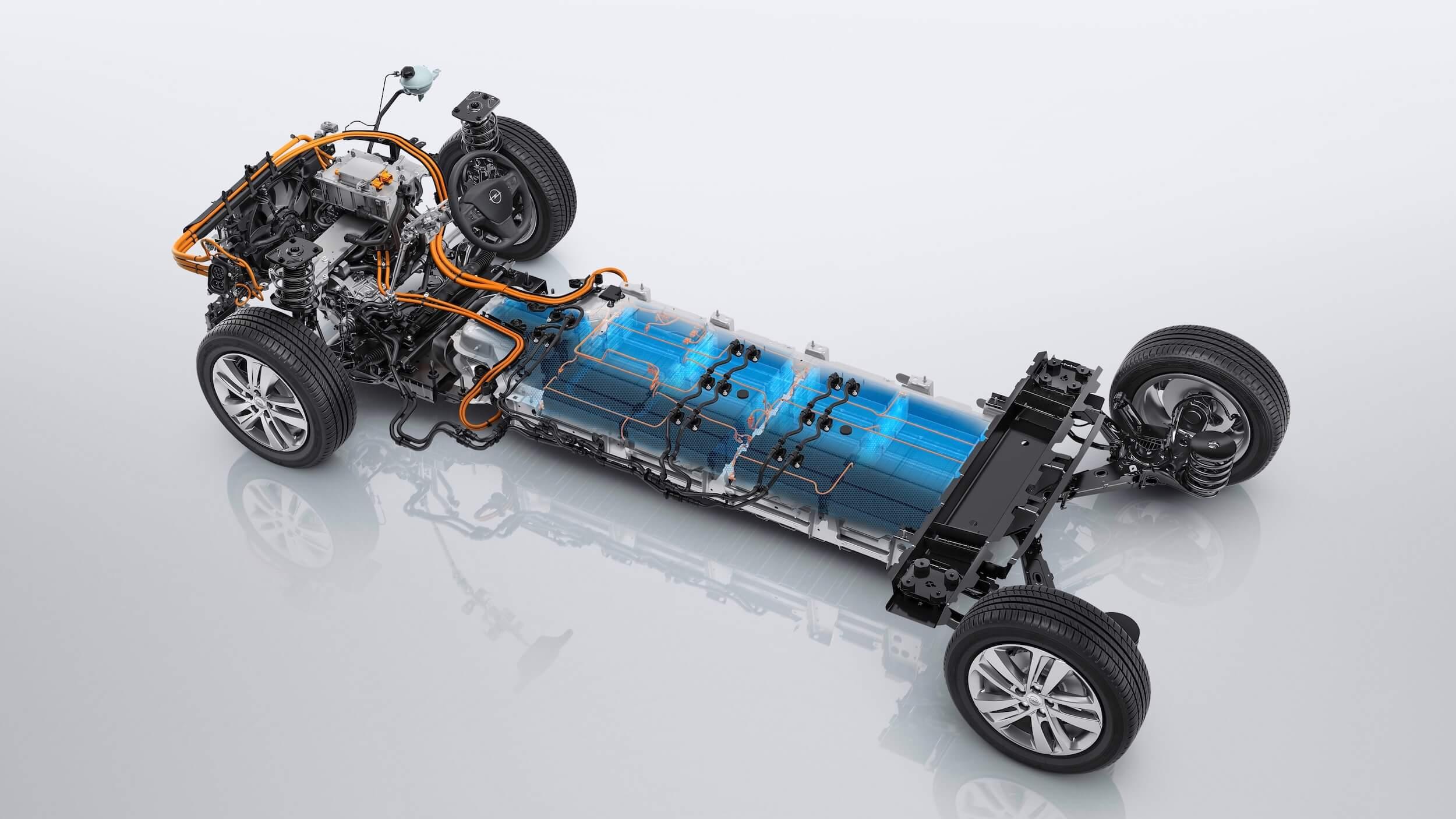 Elektrische Opel Zafira e batterij