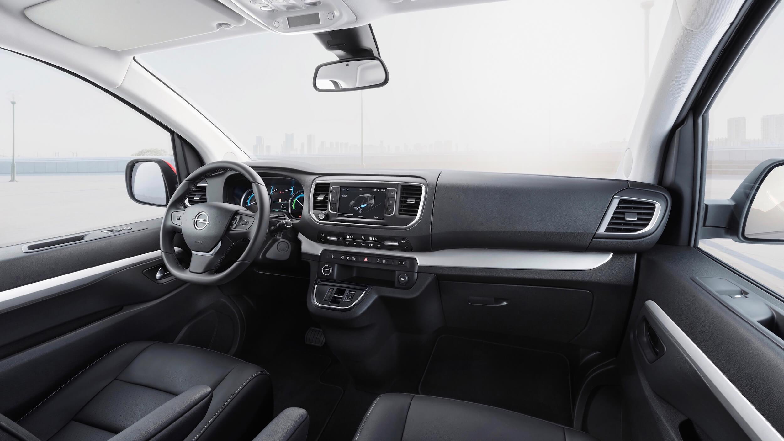 Elektrische Opel Zafira interieur