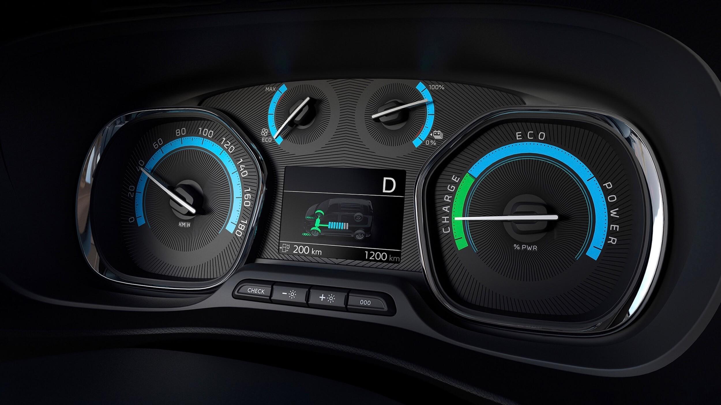 Elektrische Opel Zafira tellers