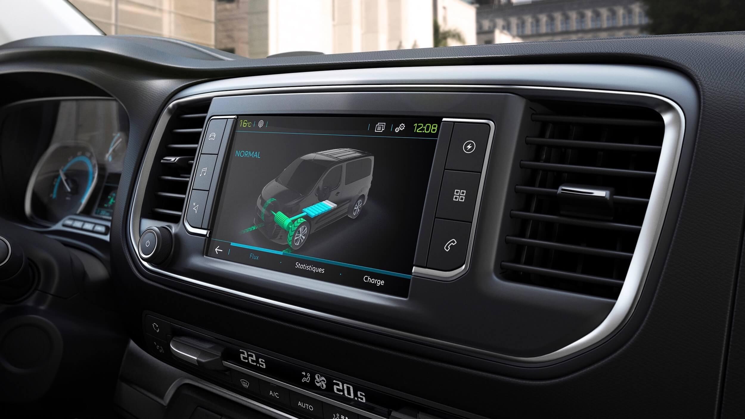 Peugeot e Traveller infotainment scherm
