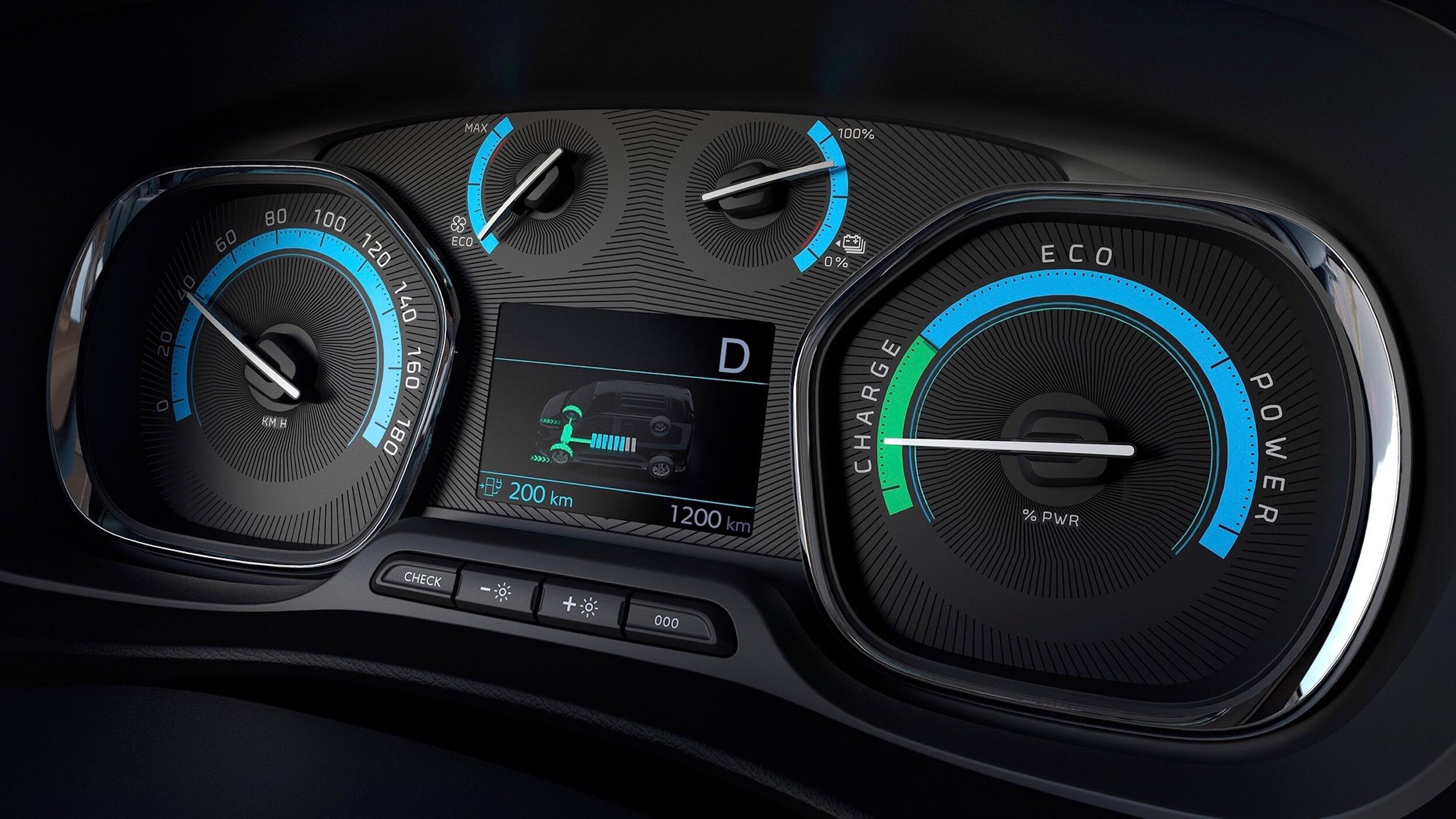 Peugeot e Traveller teller