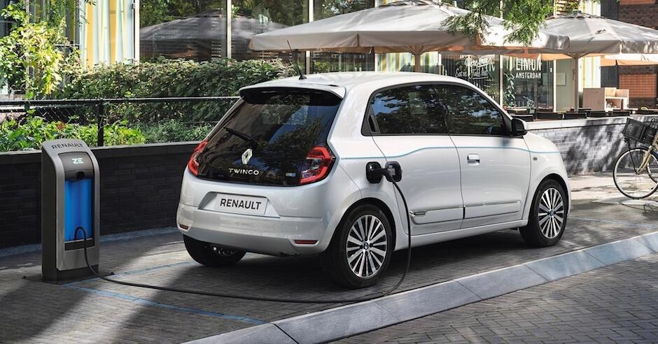 Renault Twingo ZE R80 aan laadpunt