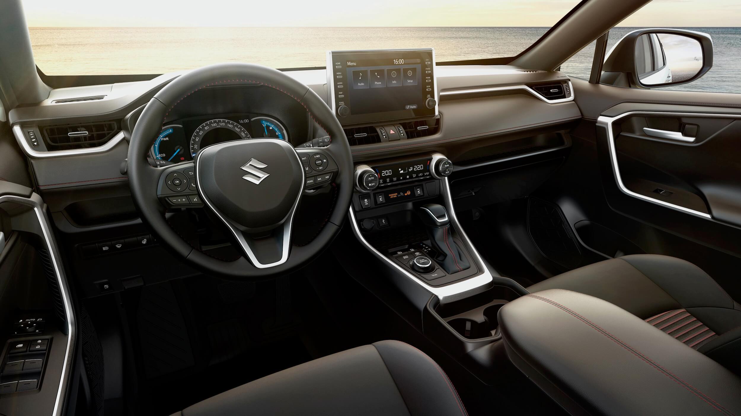 Suzuki Across PHEV dashboard