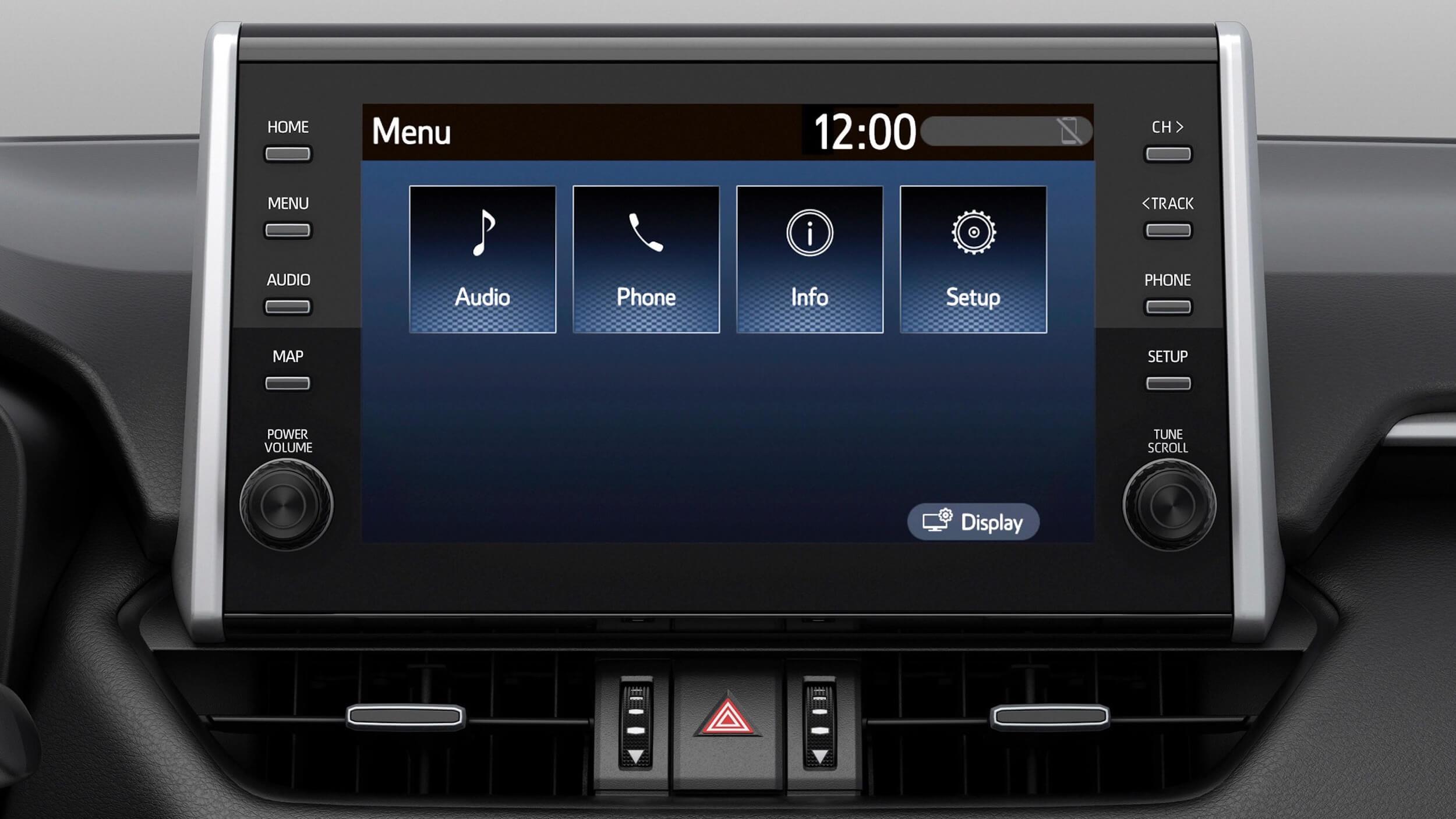 Suzuki Across infotainment scherm