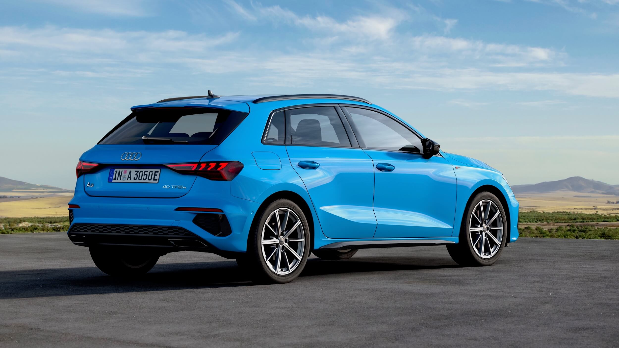 Audi A3 Sportback 40 TFSI e blauw