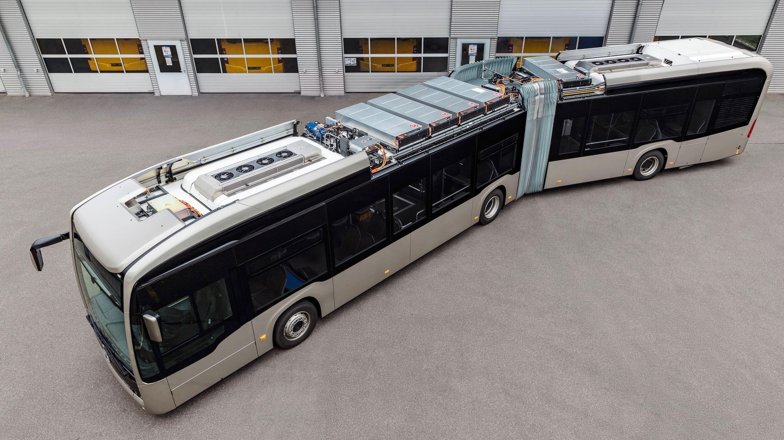 Elektrische Mercedes bus batterijen