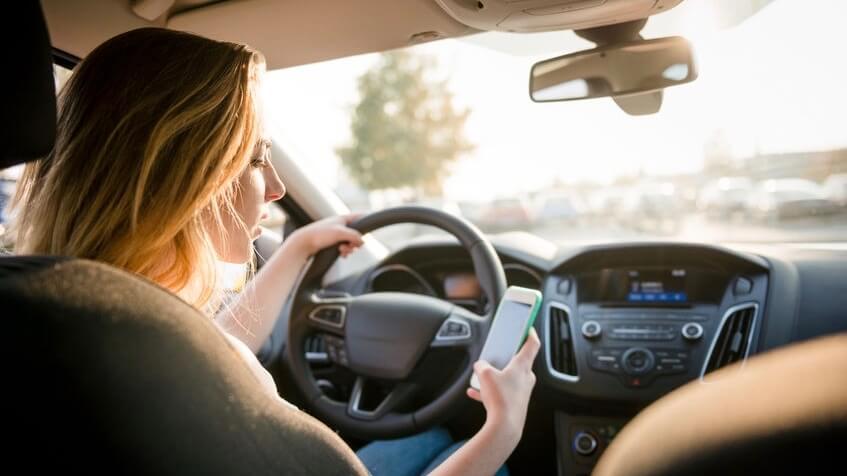 GSM gebruik achter stuur