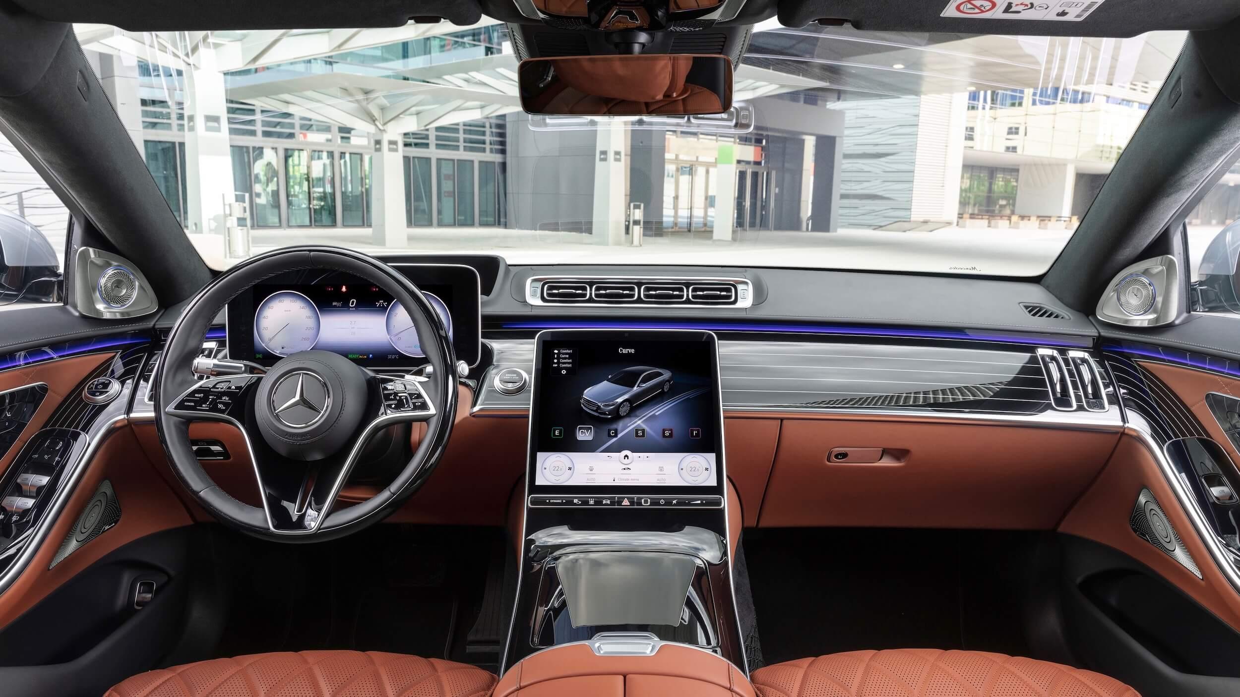 Hybride Mercedes S 580e interieur