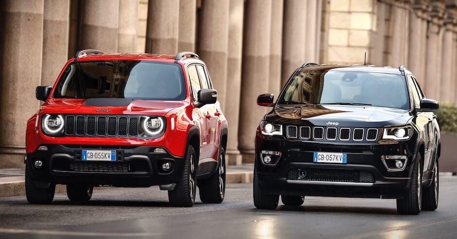 Jeep Renegade en Compass plug in hybride