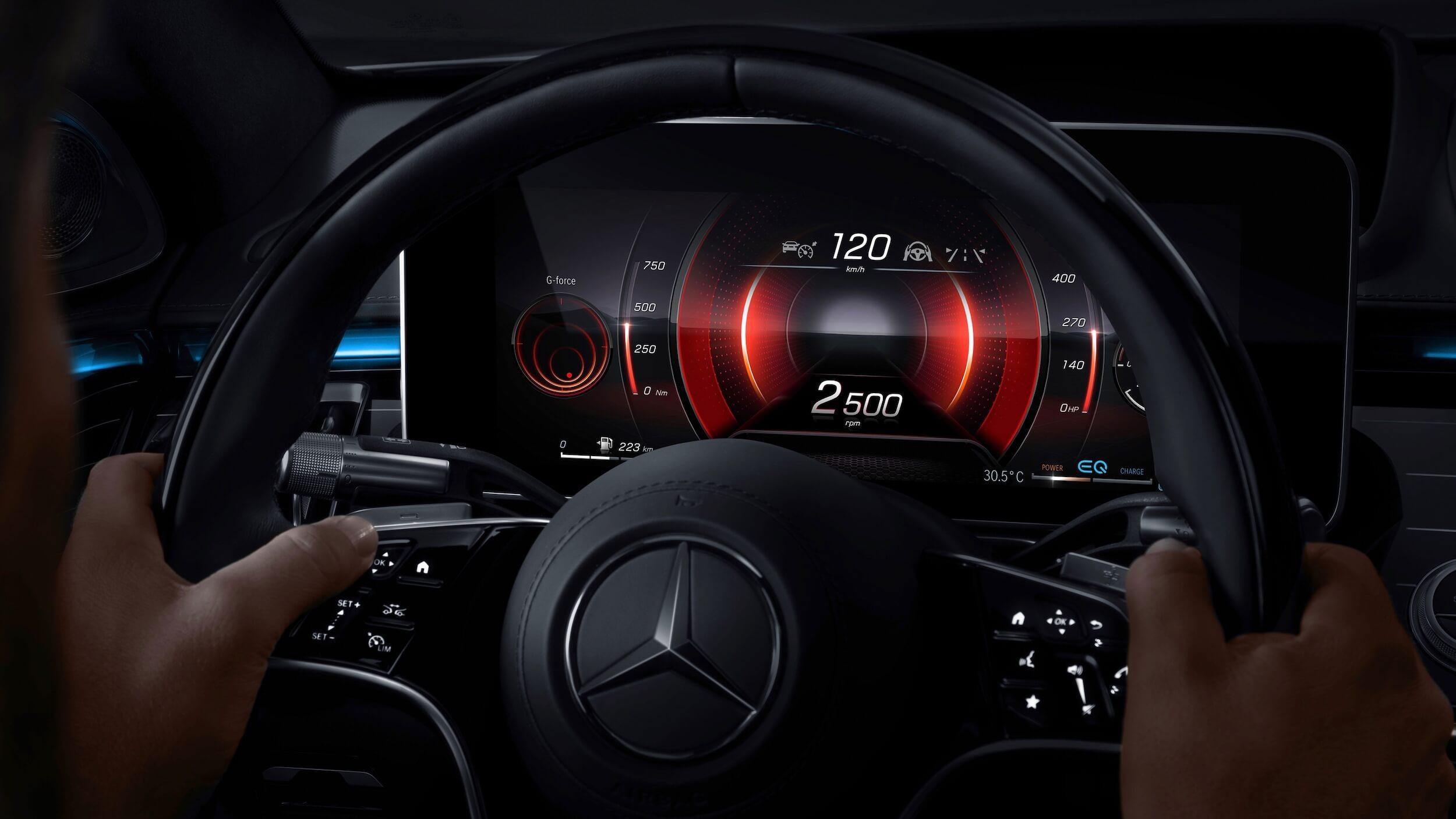Mercedes S 580e EQ snelheidstellers