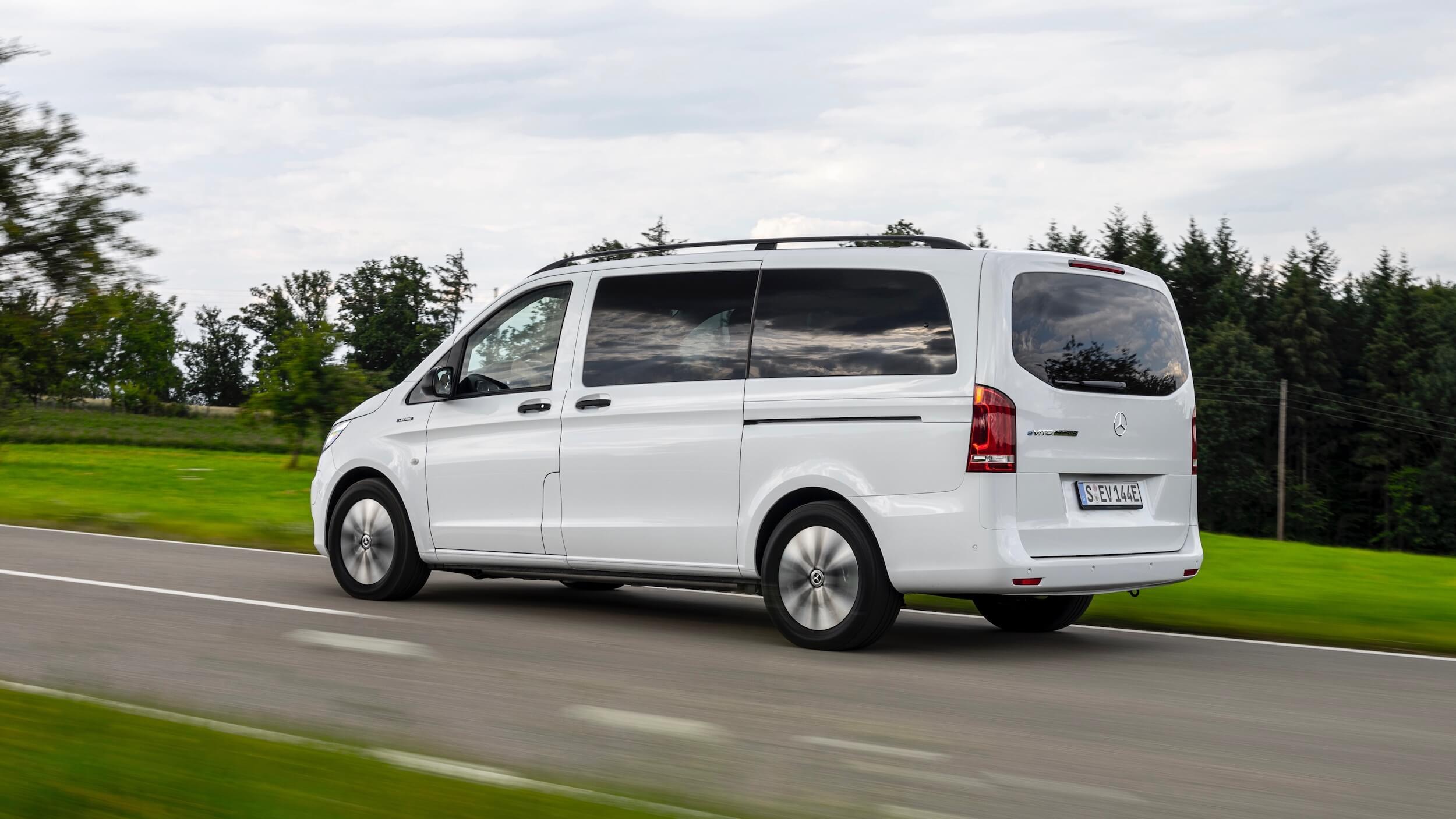 Mercedes eVito Tourer 90 kWh elektrisch busje