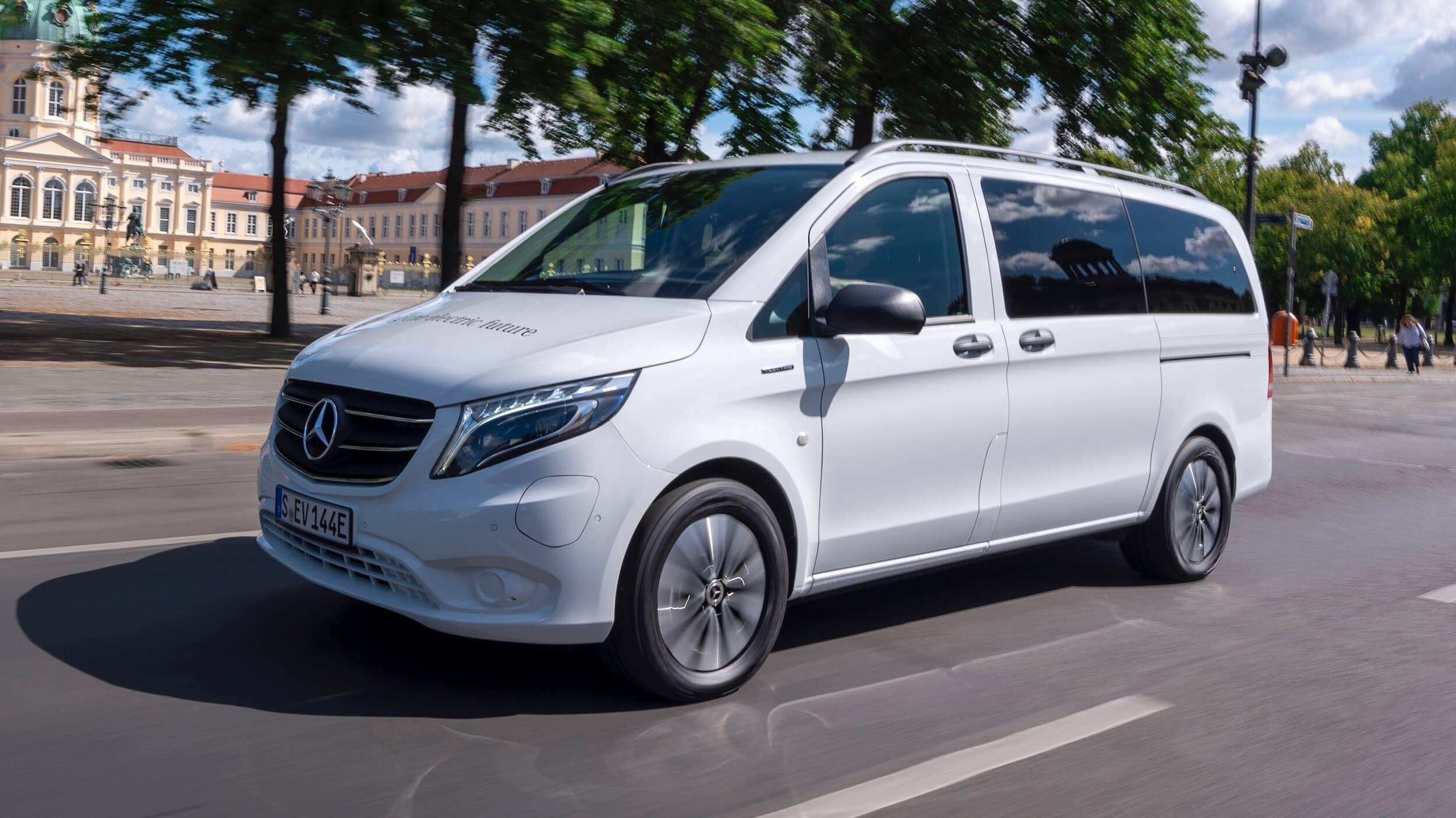 Mercedes eVito Tourer 90 kWh elektrische minibus