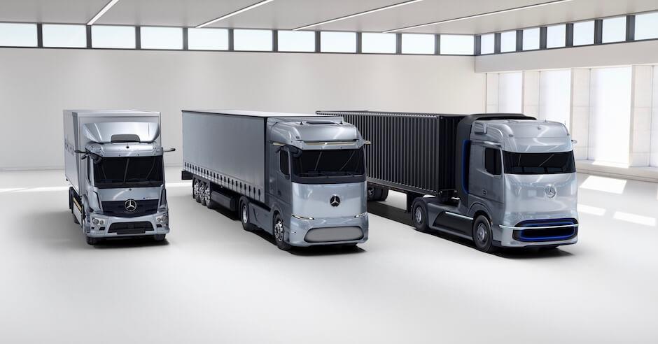Mercedes groene vrachtwagens