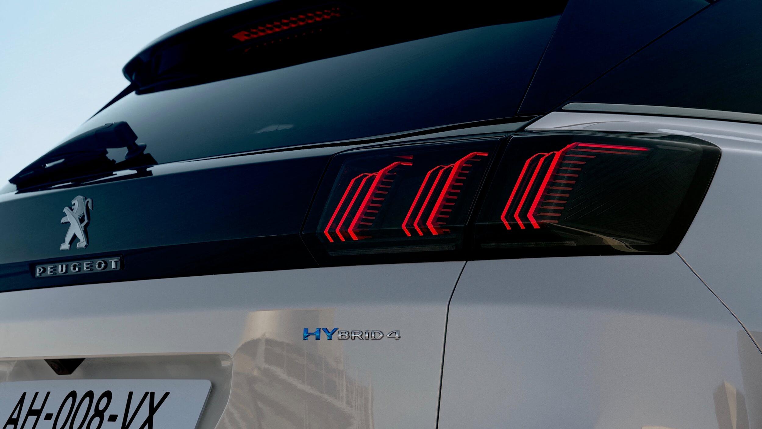 Peugeot 3008 facelift achterlicht