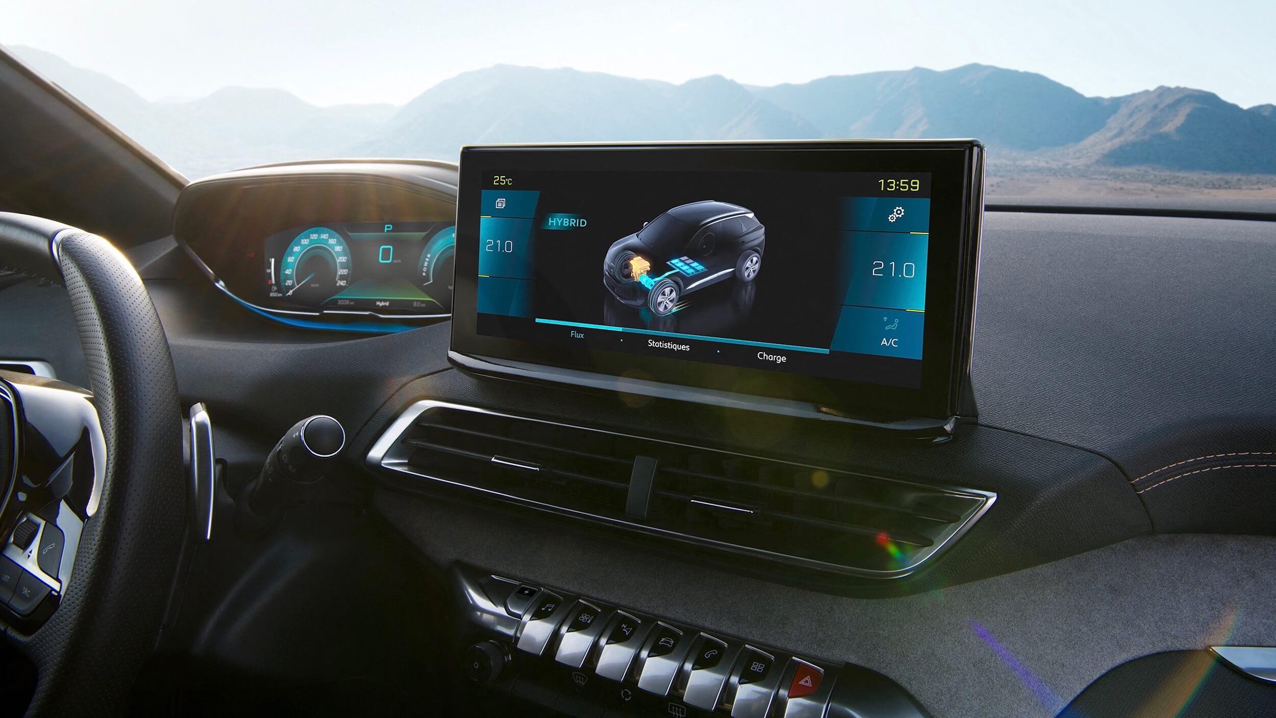 Peugeot 3008 facelift scherm