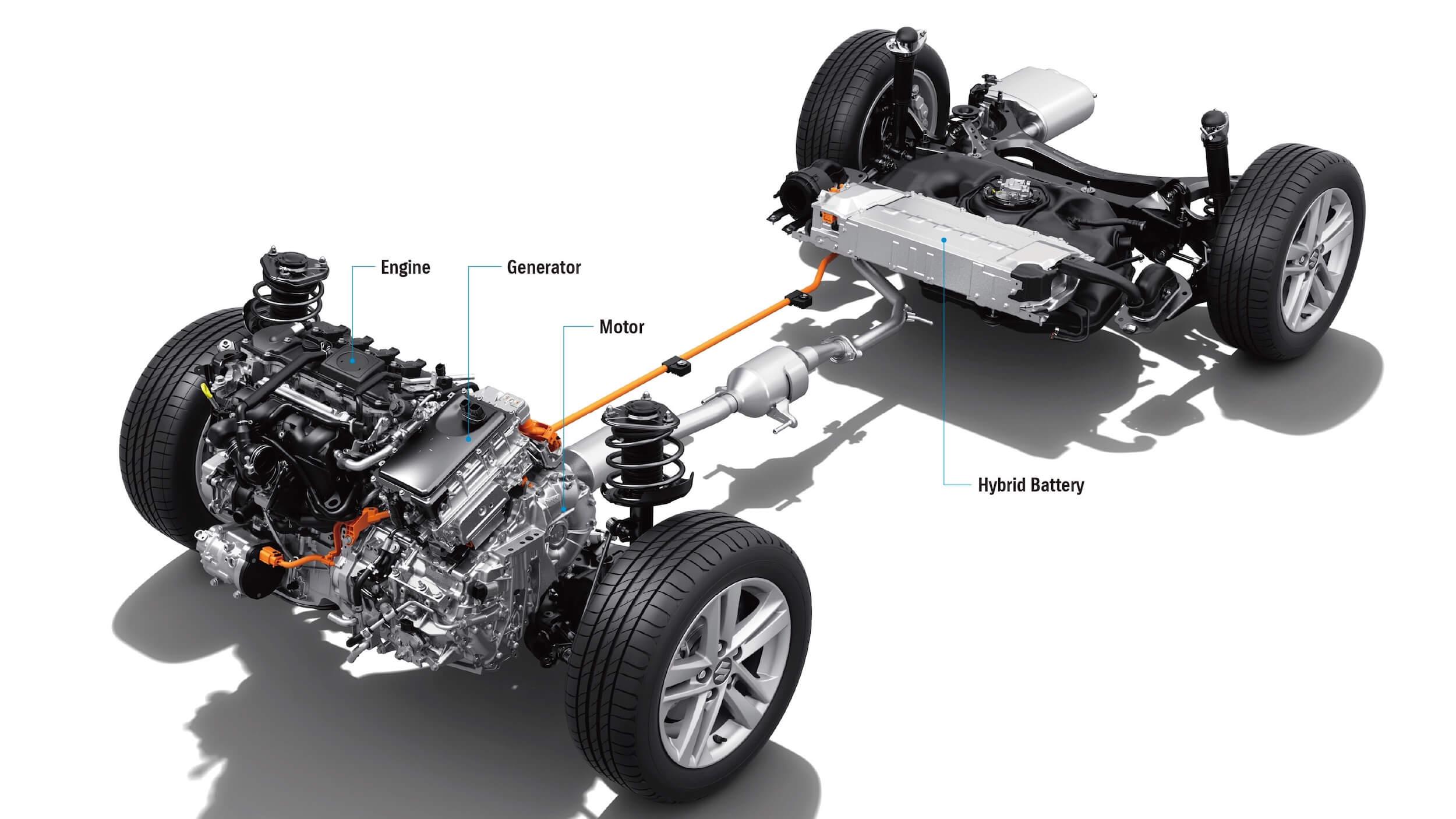 Suzuki Swace hybride aandrijflijn